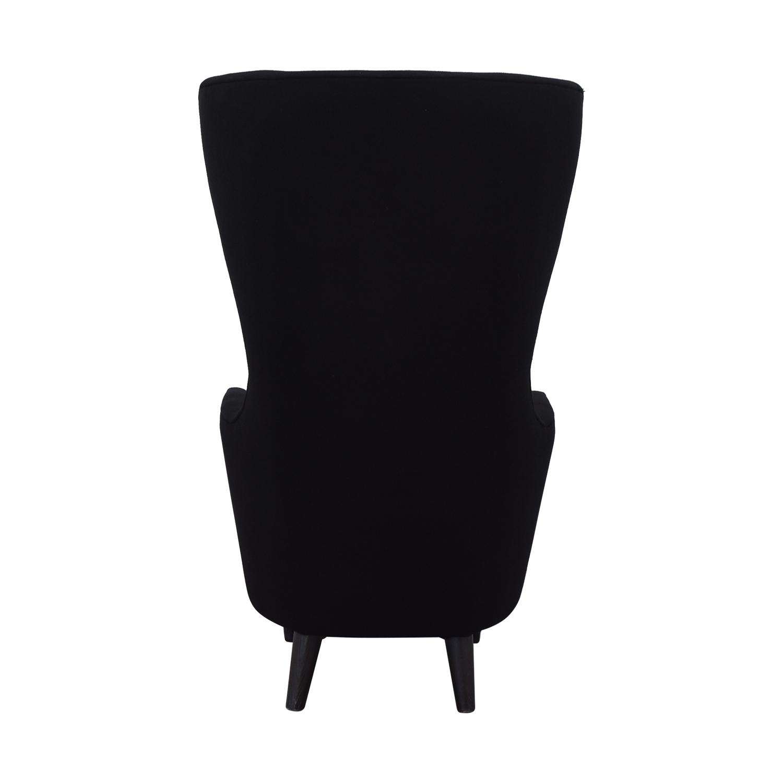 buy Tom Dixon Wingback Black Leg Hallingdal 65 Chair Tom Dixon