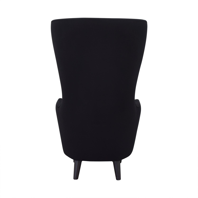 Tom Dixon Wingback Black Leg Hallingdal 65 Chair / Accent Chairs