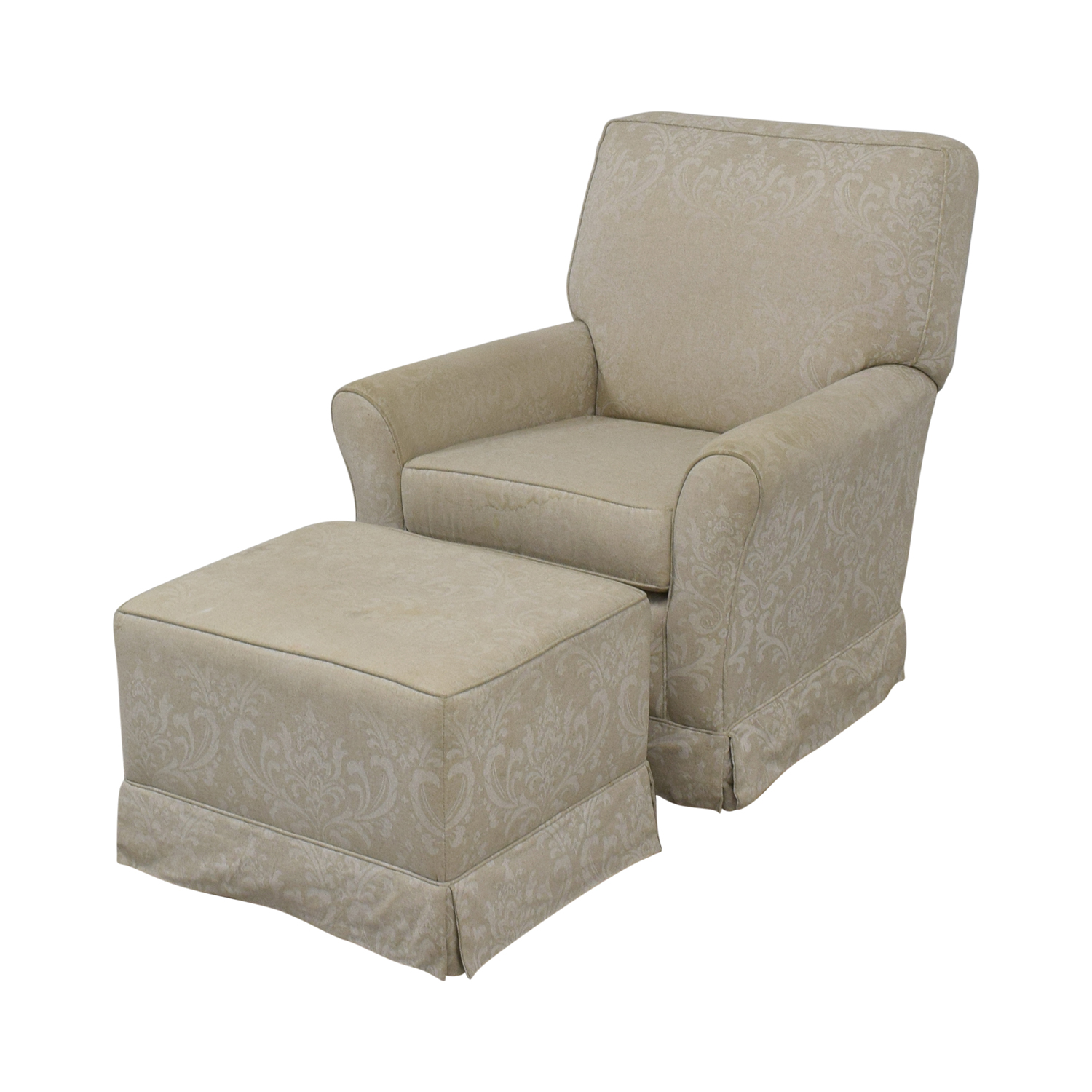 Slipcover Glider Chair and Ottoman discount