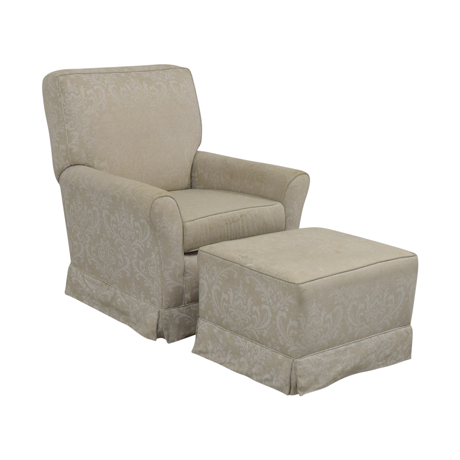 shop Slipcover Glider Chair and Ottoman  Chairs