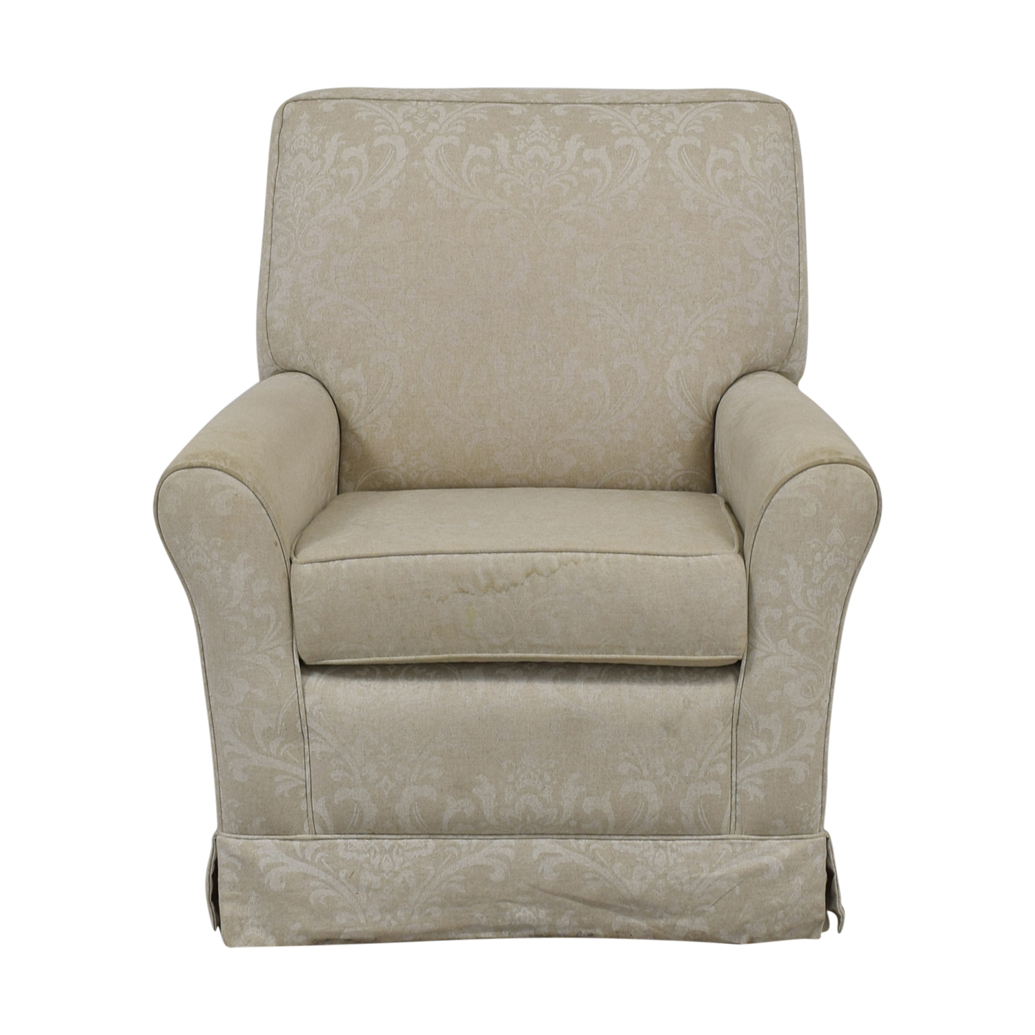Slipcover Glider Chair and Ottoman