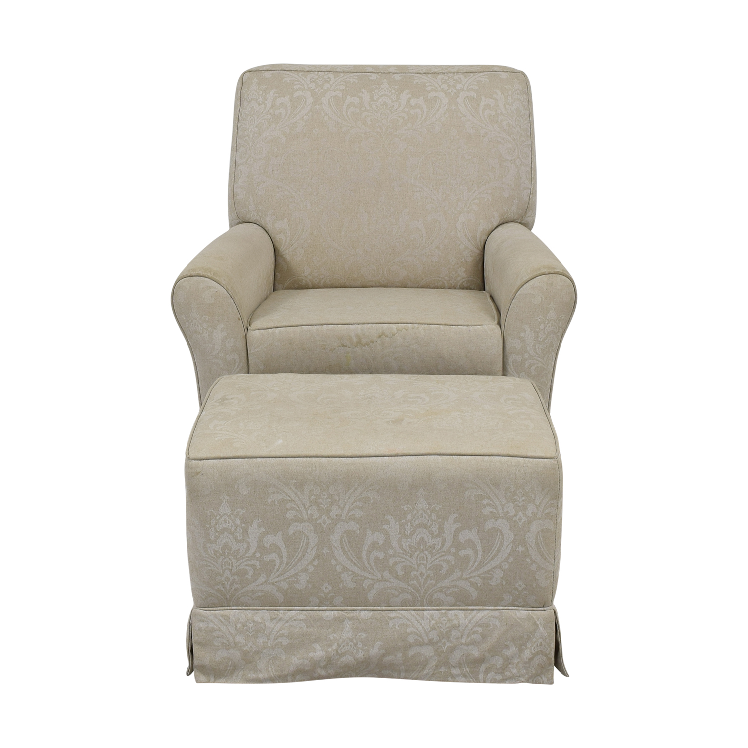 Slipcover Glider Chair and Ottoman on sale