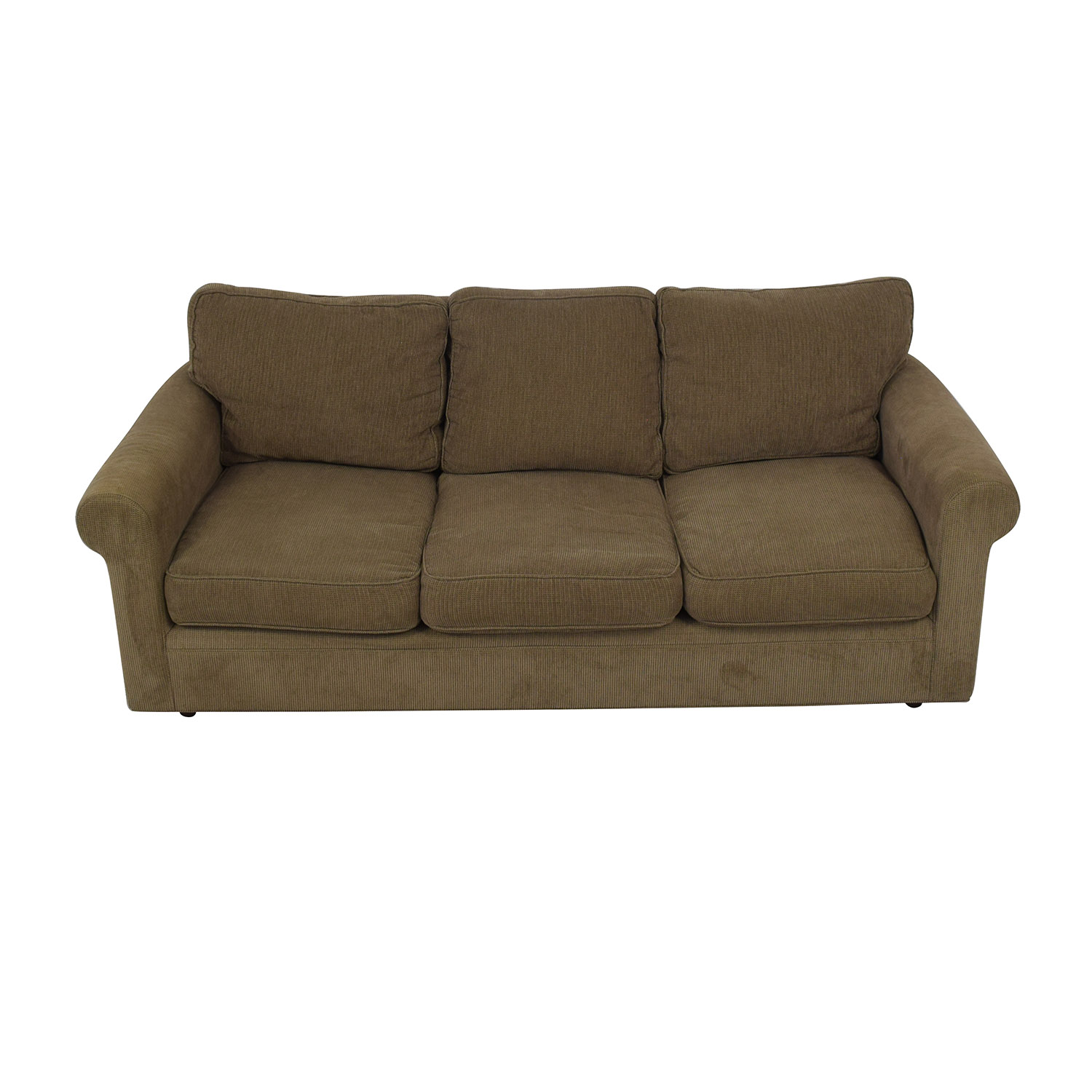Crate & Barrel Crate & Barrel 3-Seat Rolled Arm Sofa for sale