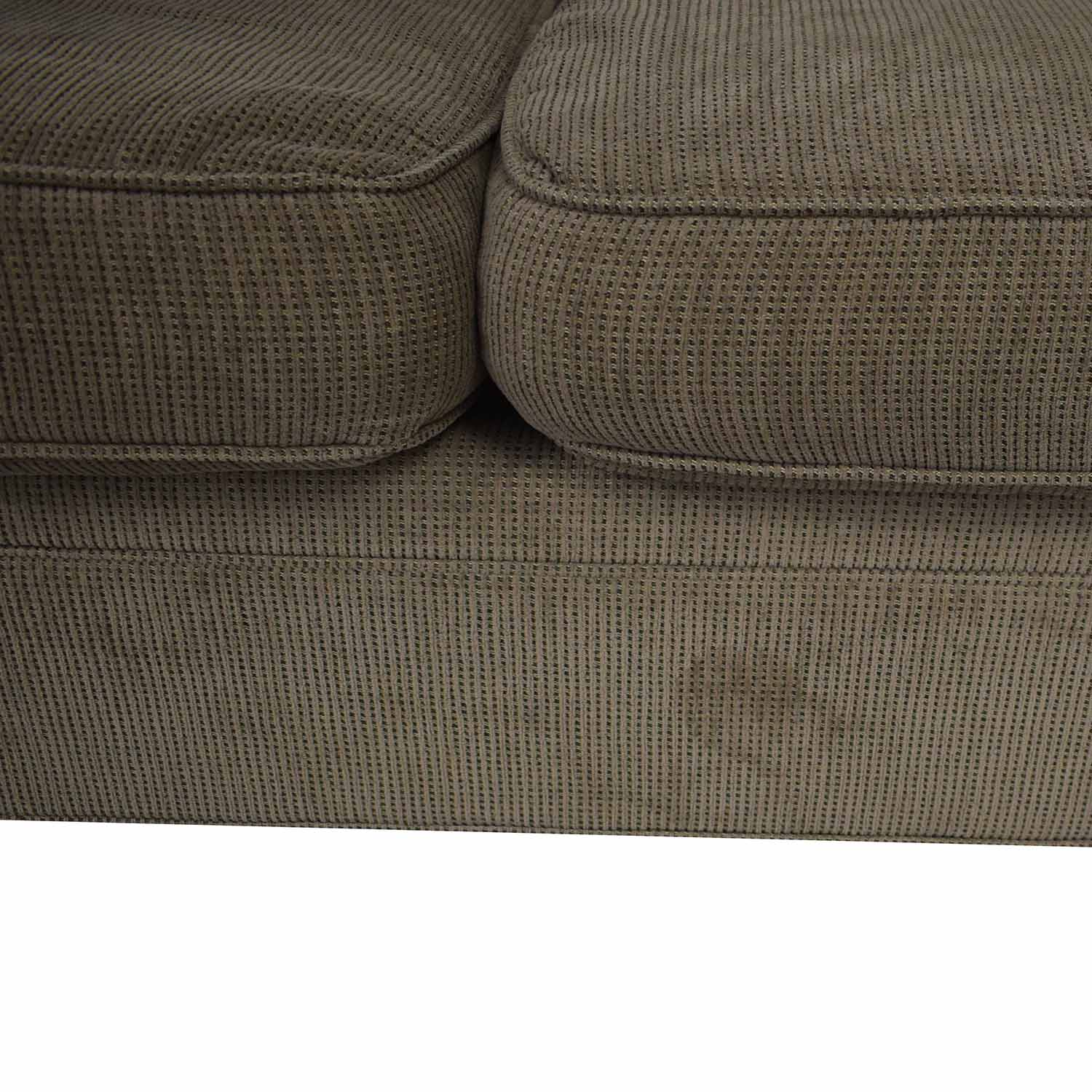 Crate & Barrel 3-Seat Rolled Arm Sofa / Sofas