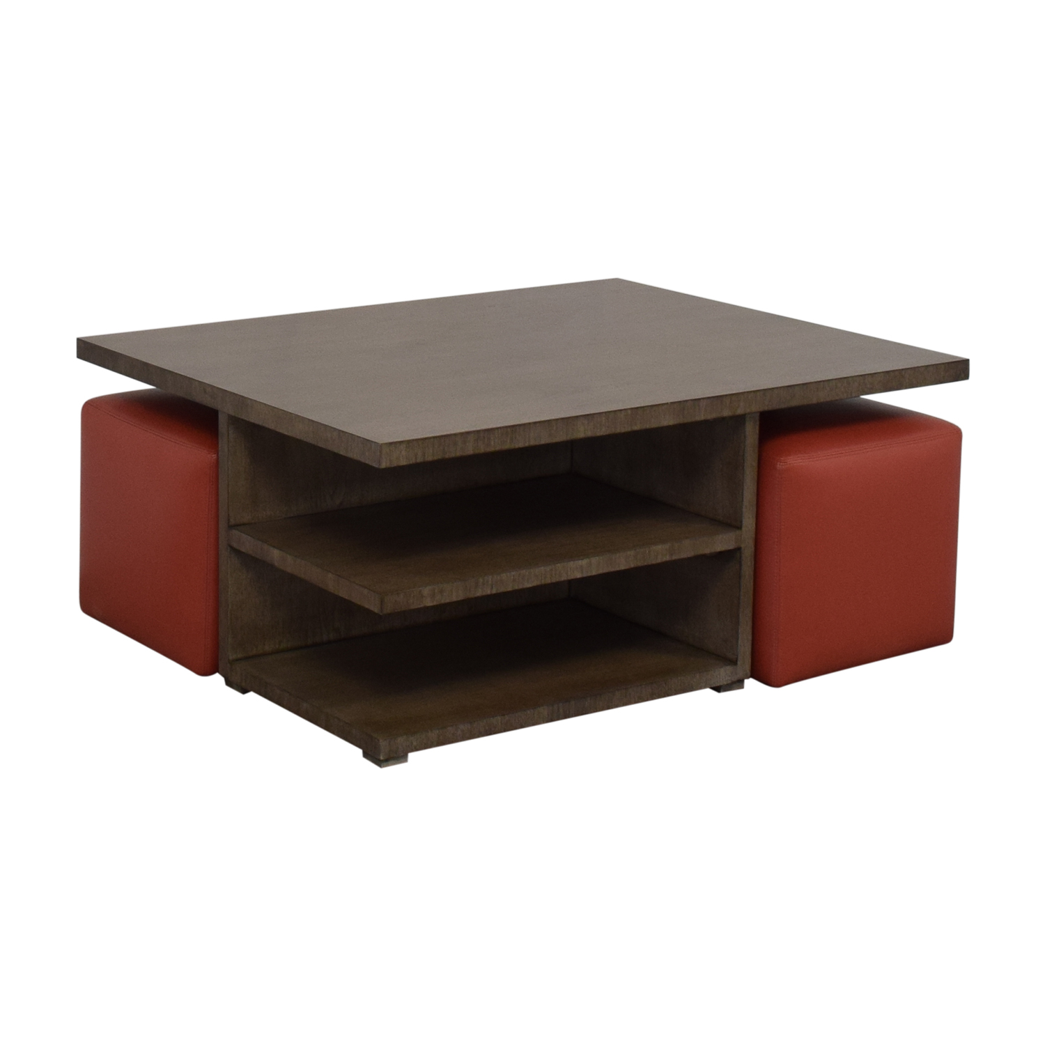 CTH Sherrill Occasional Furniture CTH Sherrill Occasional Furniture Cocktail Table with Ottomans second hand