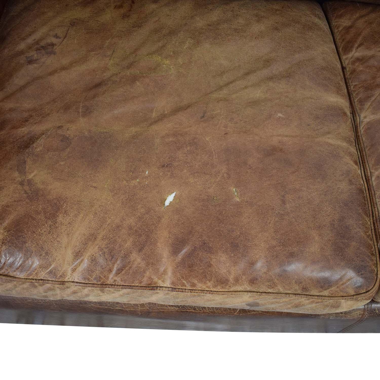 Restoration Hardware Restoration Hardware Collins Leather Sofa used