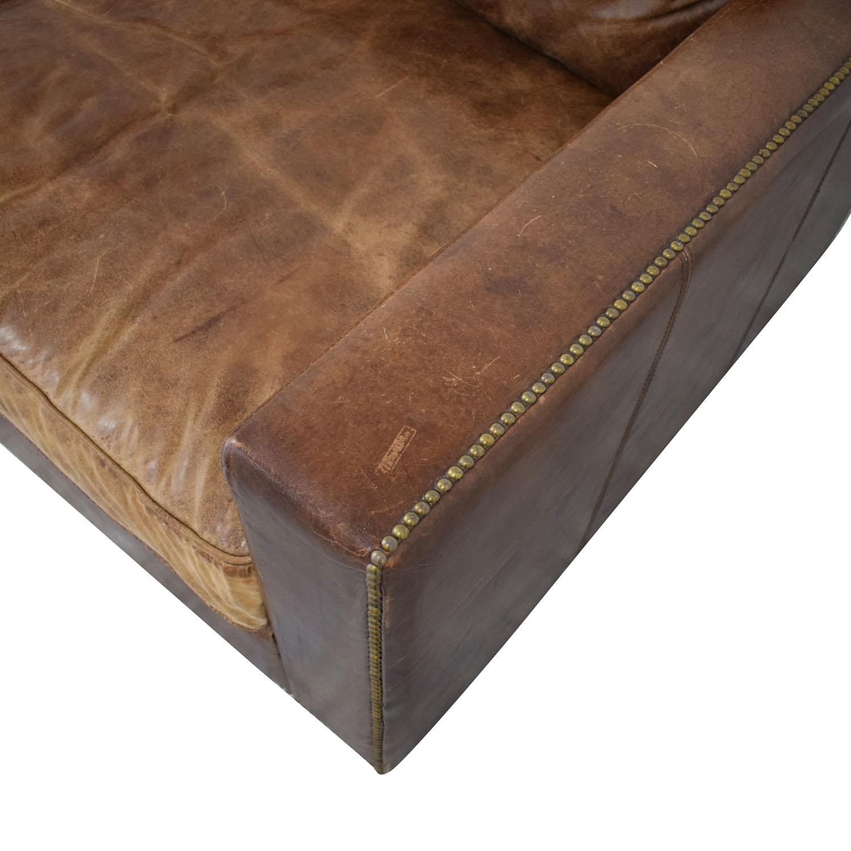 buy Restoration Hardware Collins Leather Sofa Restoration Hardware