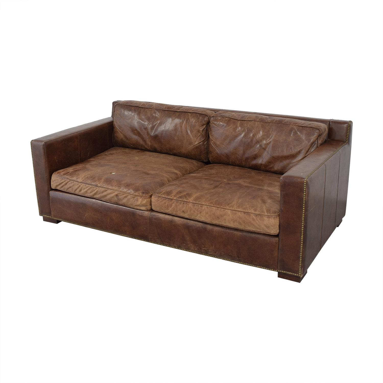 Fantastic 79 Off Restoration Hardware Restoration Hardware Collins Leather Sofa Sofas Pdpeps Interior Chair Design Pdpepsorg
