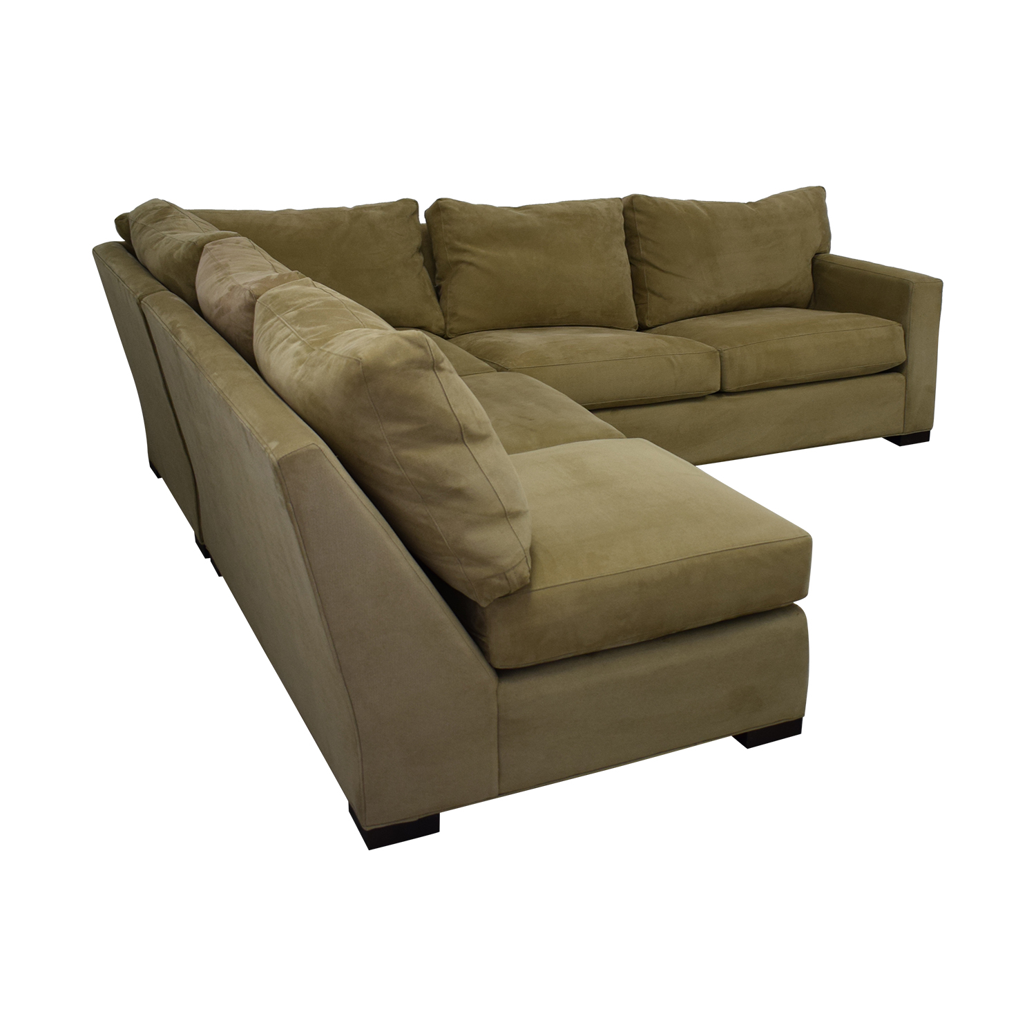 Crate & Barrel Crate & Barrel Axis Beige Three Piece Sleeper Sectional Sofa discount