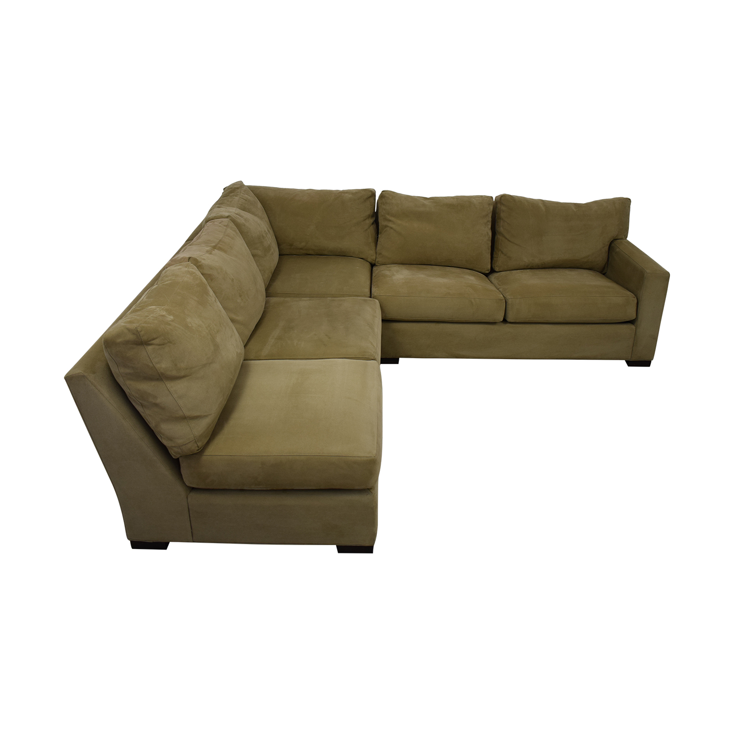 shop Crate & Barrel Axis Beige Three Piece Sleeper Sectional Sofa Crate & Barrel Sofas