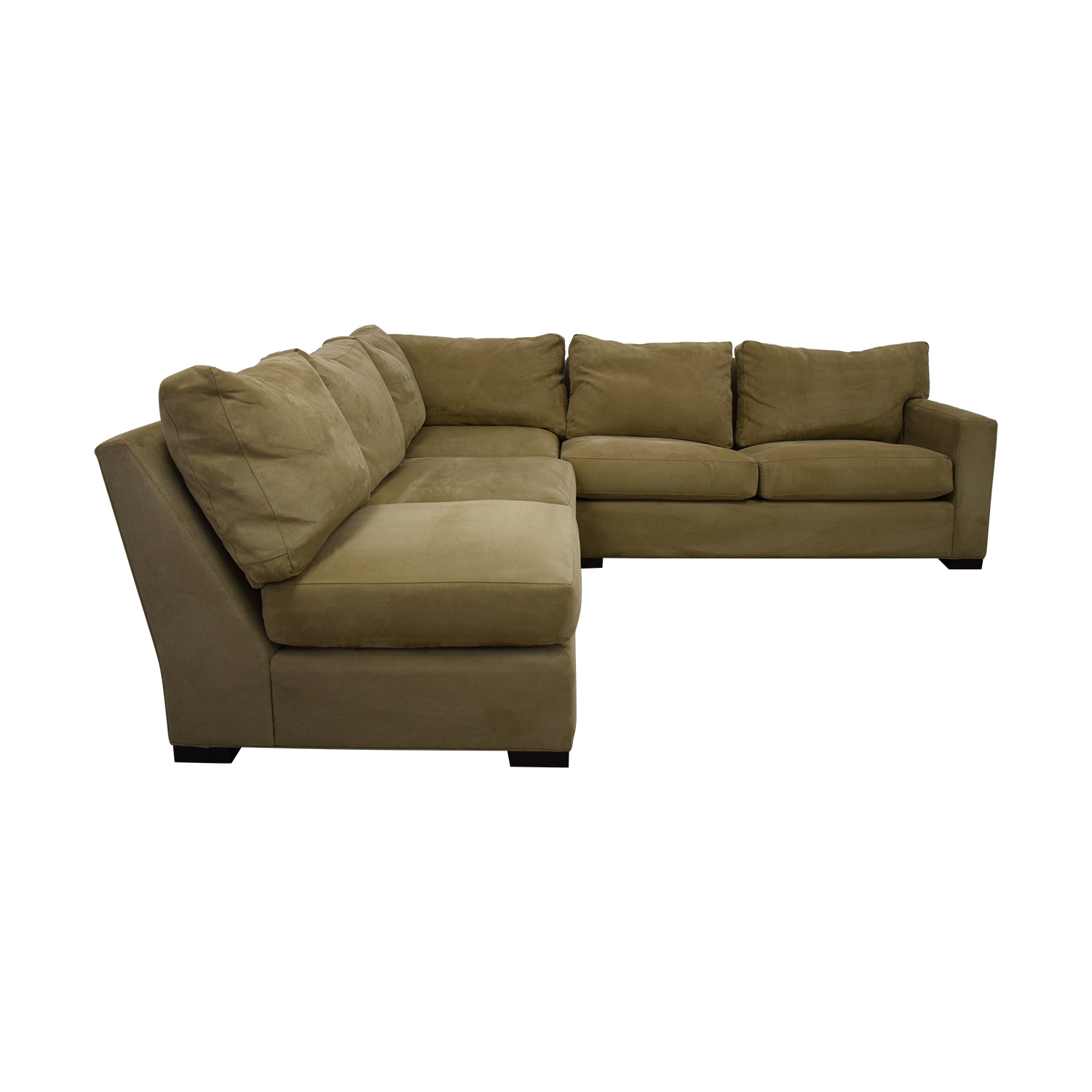 shop Crate & Barrel Axis Beige Three Piece Sleeper Sectional Sofa Crate & Barrel