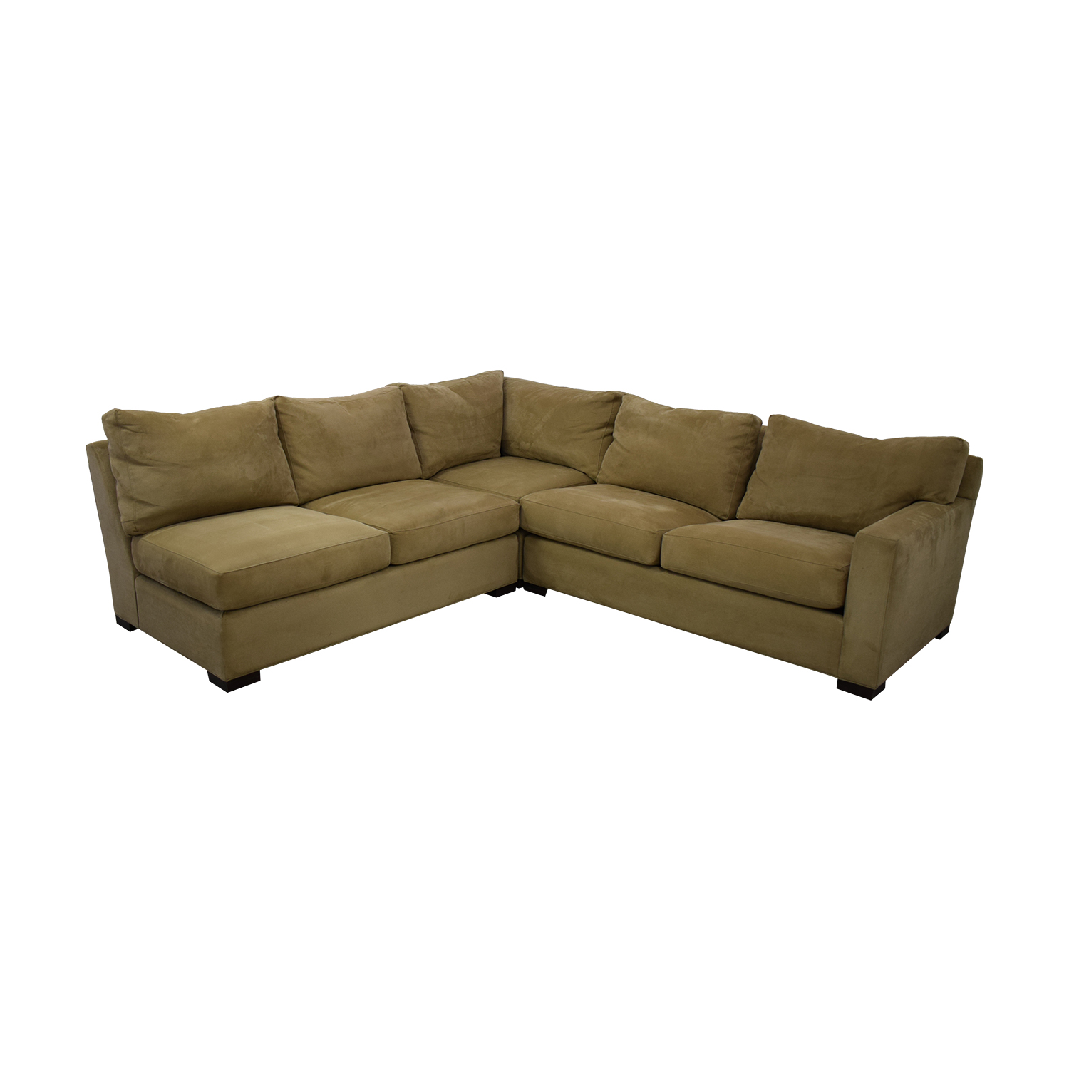 buy Crate & Barrel Axis Beige Three Piece Sleeper Sectional Sofa Crate & Barrel Sofas