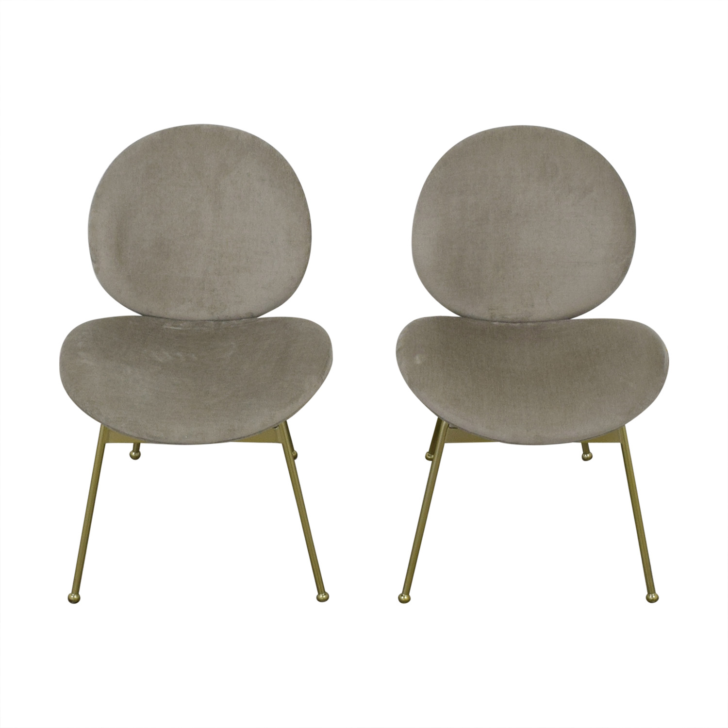 West Elm West Elm Upholstered Dining Chair light gray
