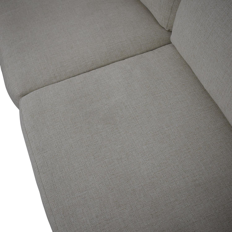 buy West Elm Urban 2-Piece Chaise Sofa West Elm Sectionals