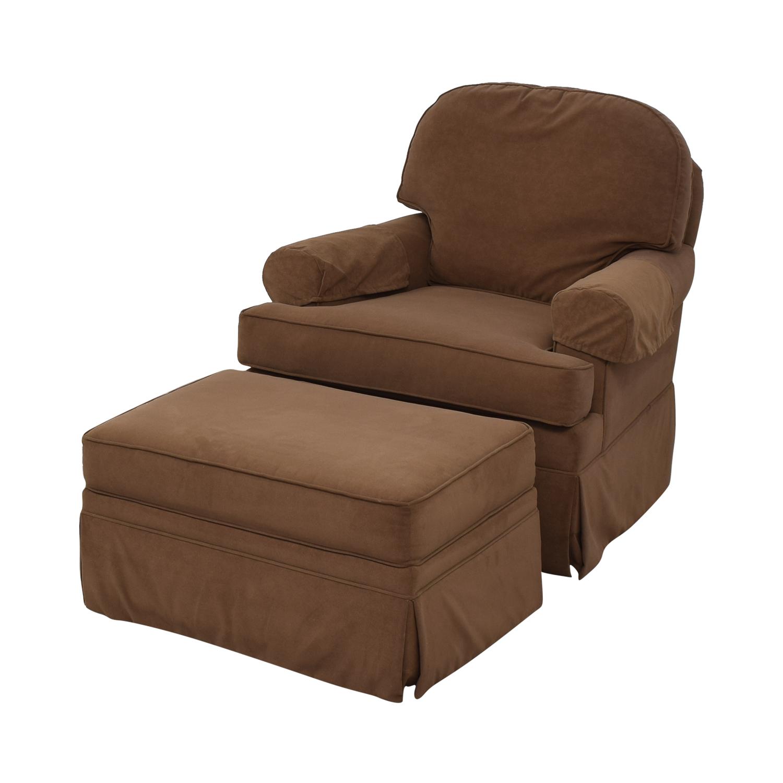 buy Ethan Allen Devonshire Swivel Glider & Ottoman Ethan Allen Accent Chairs