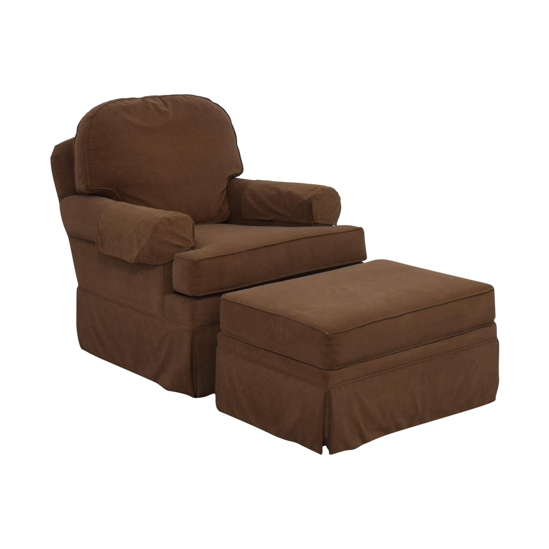 Ethan Allen Ethan Allen Devonshire Swivel Glider & Ottoman Accent Chairs