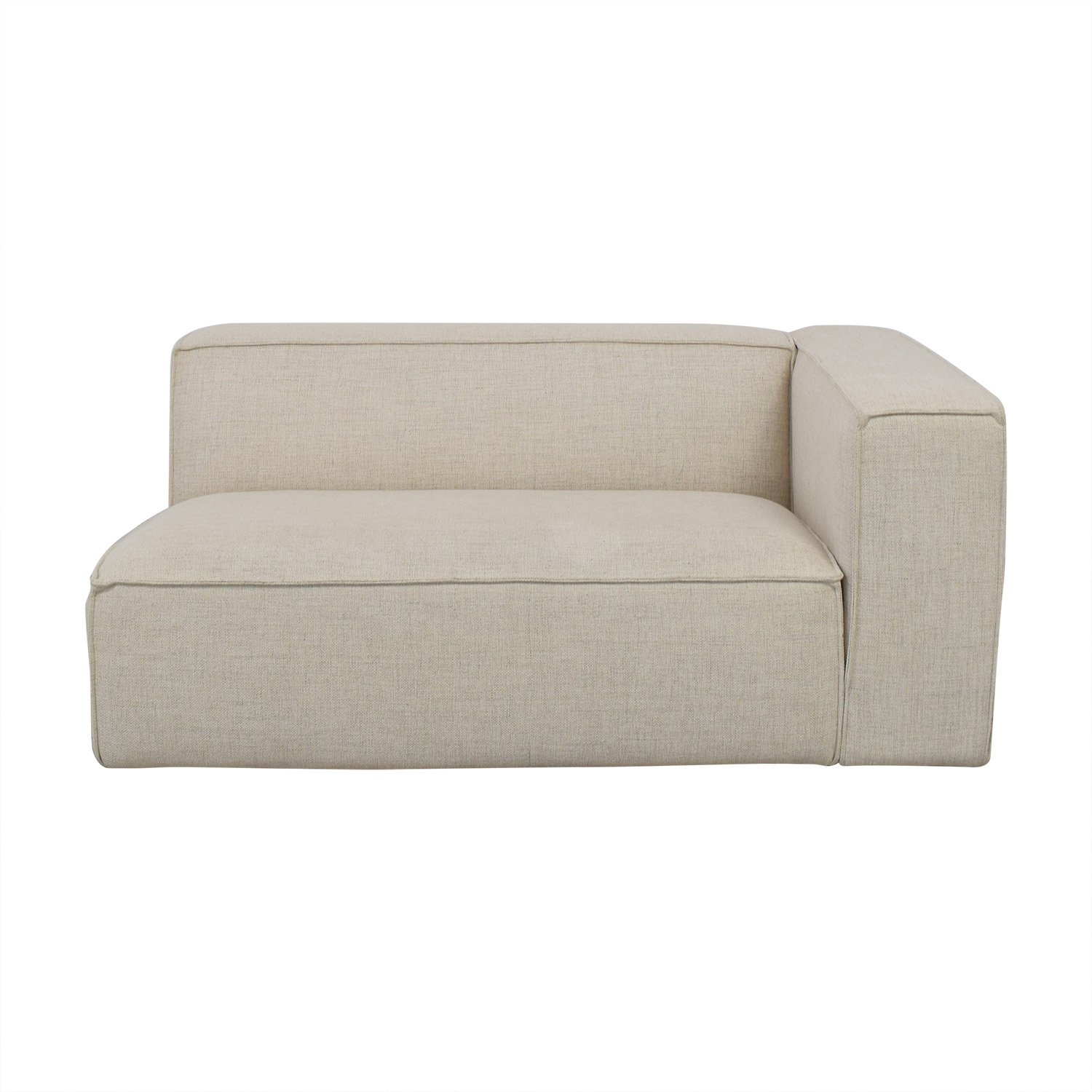 Interior Define White One-Arm High Sofa / Chaises