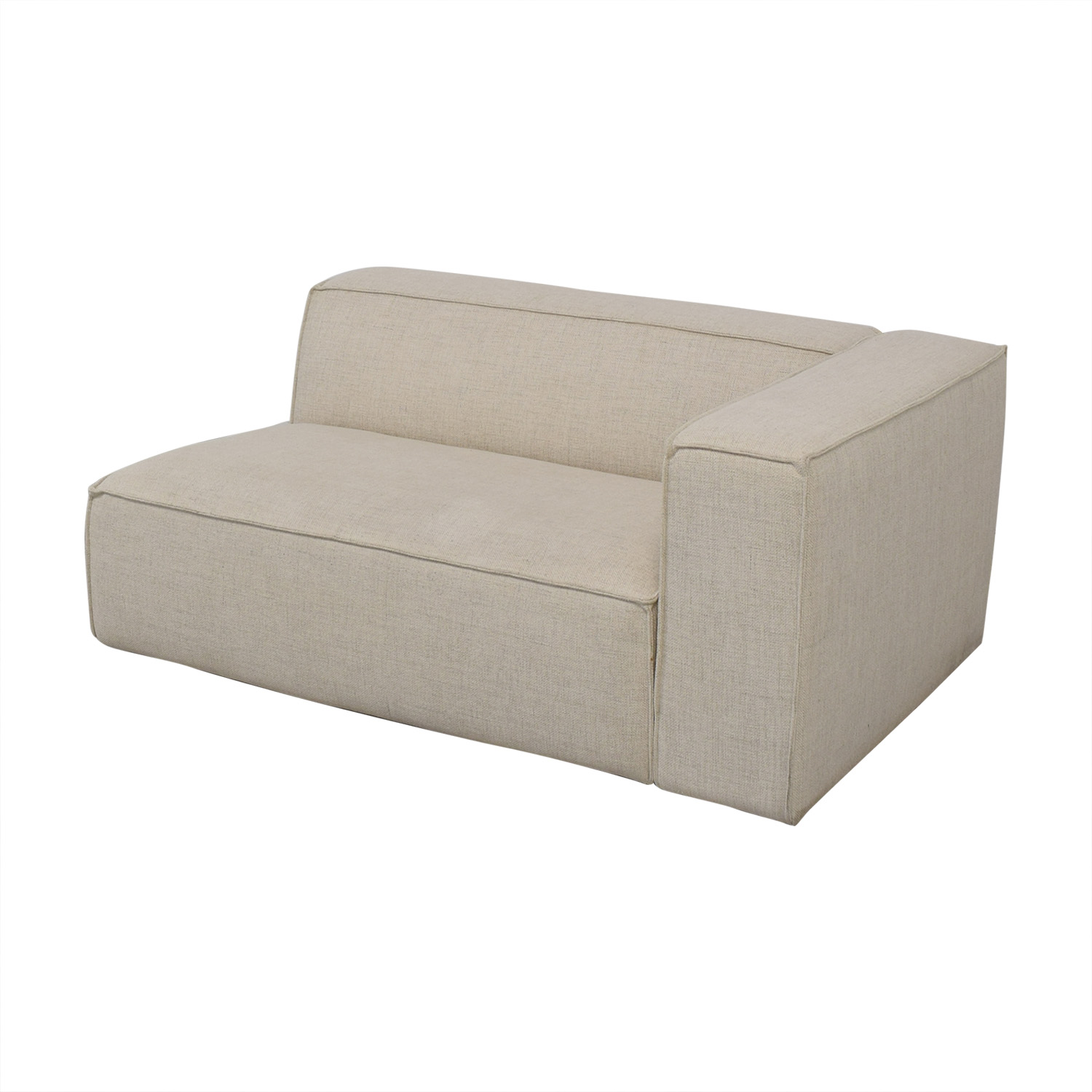 Interior Define Interior Define White One-Arm High Sofa price