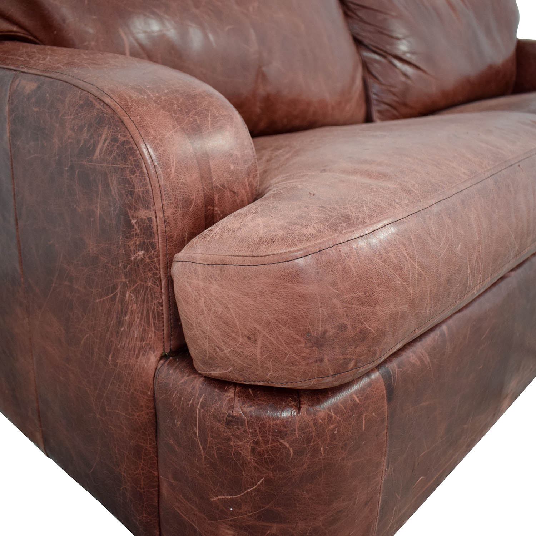 Leather Sleeper Sofa for sale