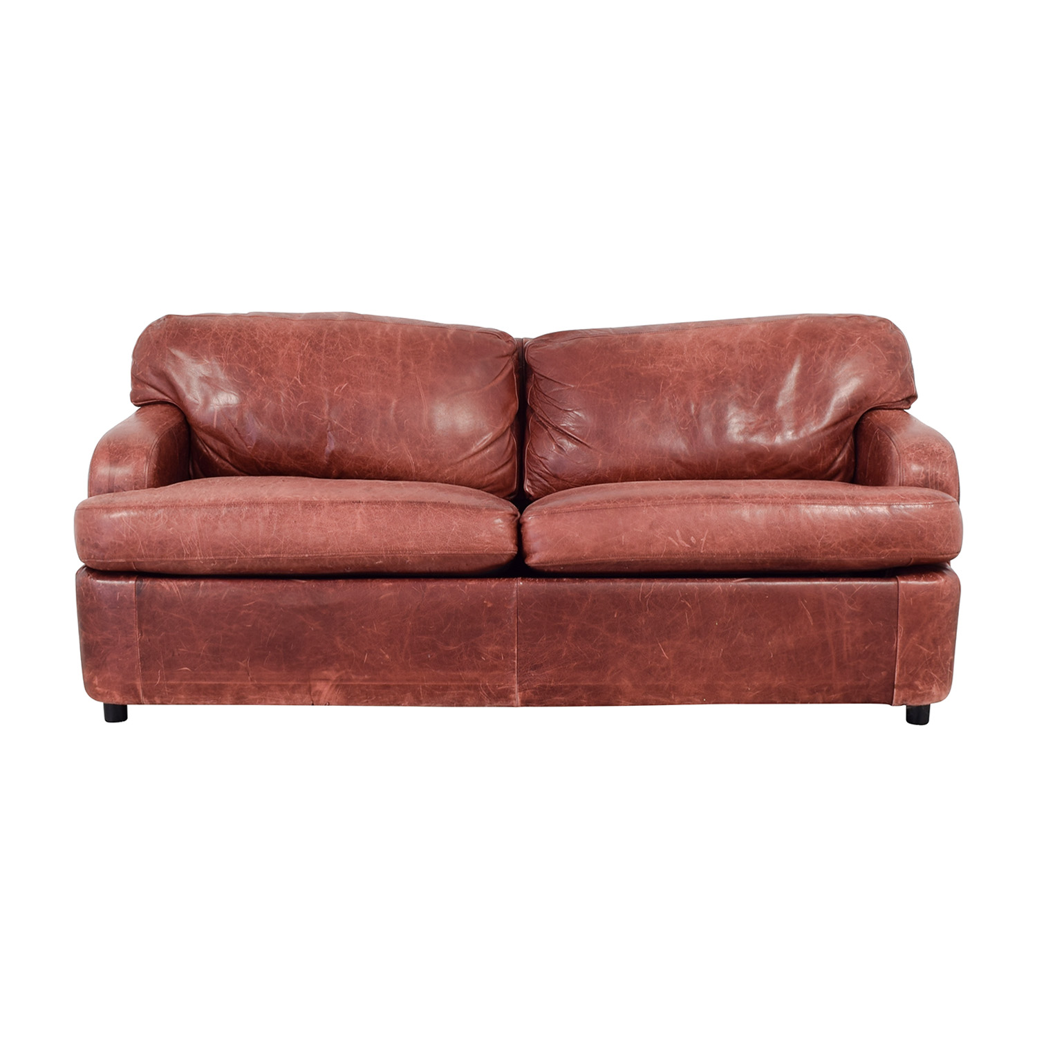 76% OFF - Leather Sleeper Sofa / Sofas
