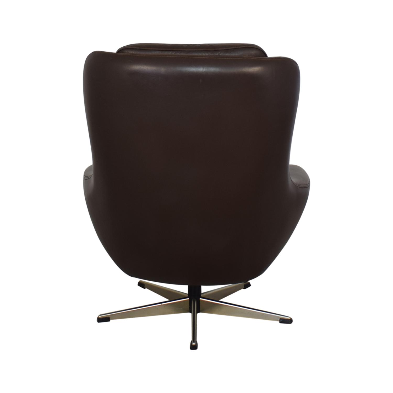 Modern Swivel Leather Lounge Chair nyc