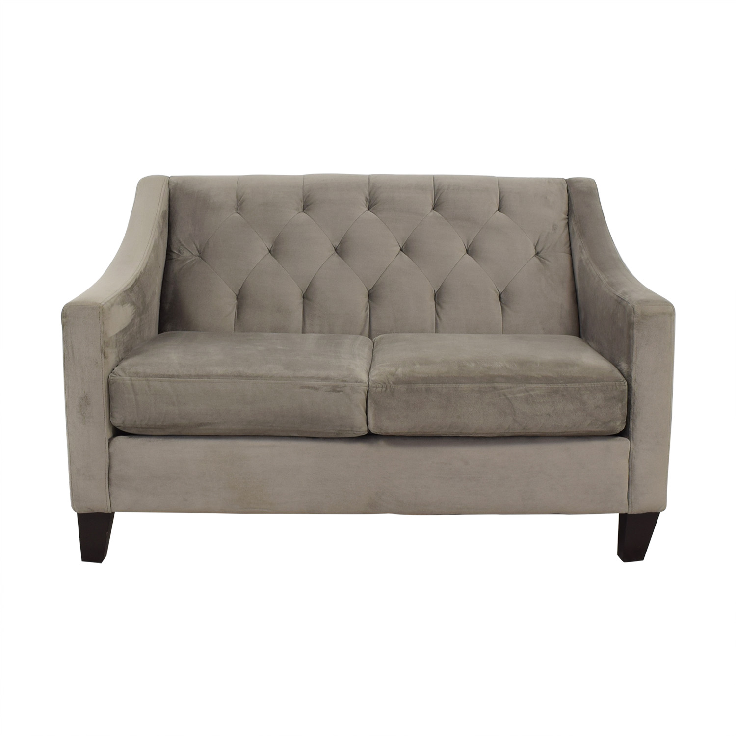 Macy's Macy's Chloe Tufted Loveseat on sale