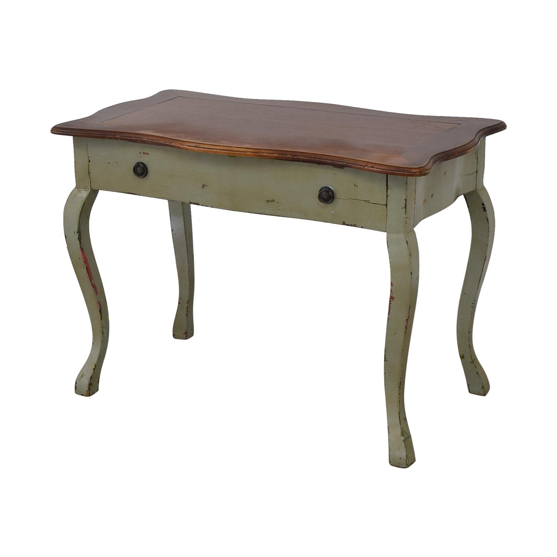 Antique Desk green & brown
