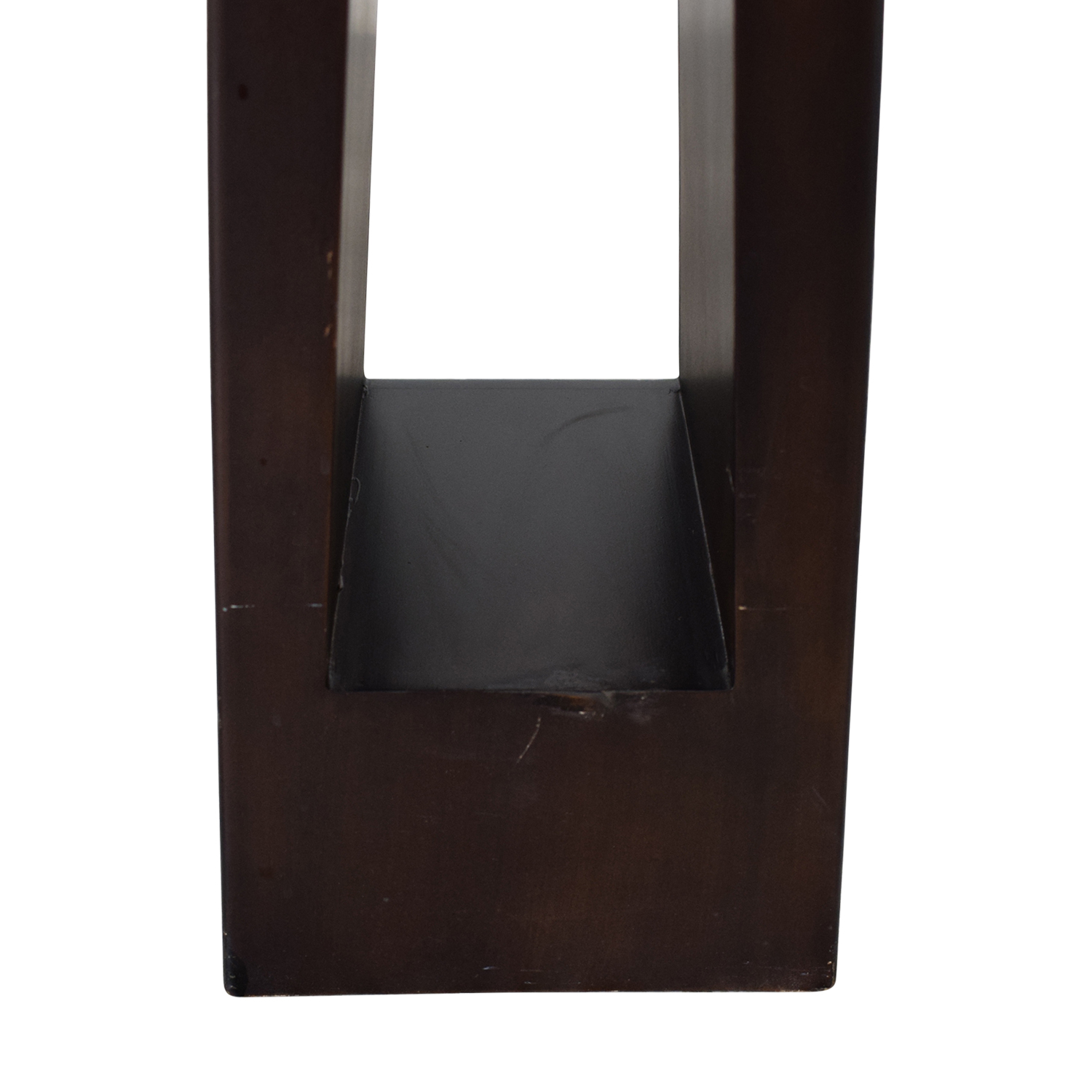 Tarogo Tarogo Triangular Wood Base Floor Lamp nj
