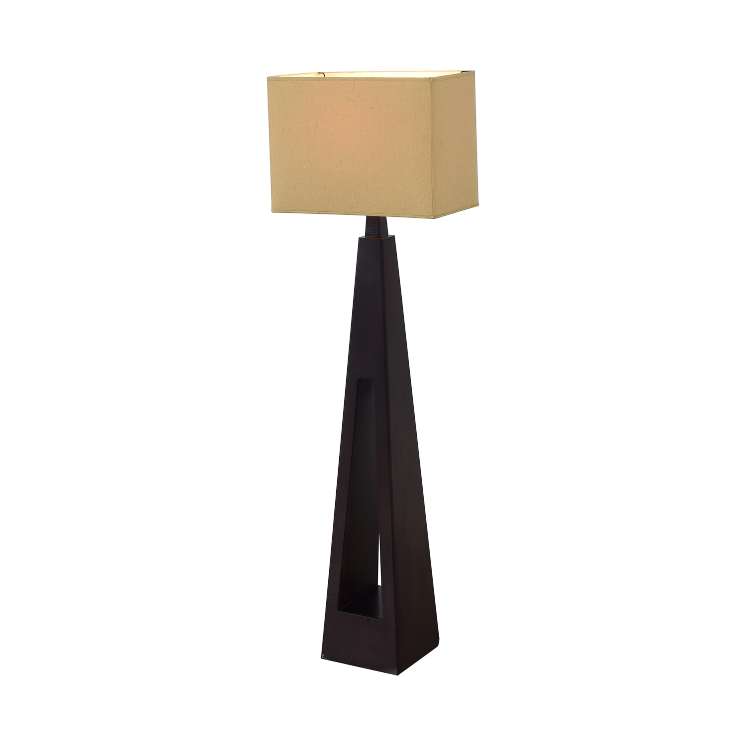 Tarogo Tarogo Triangular Wood Base Floor Lamp price