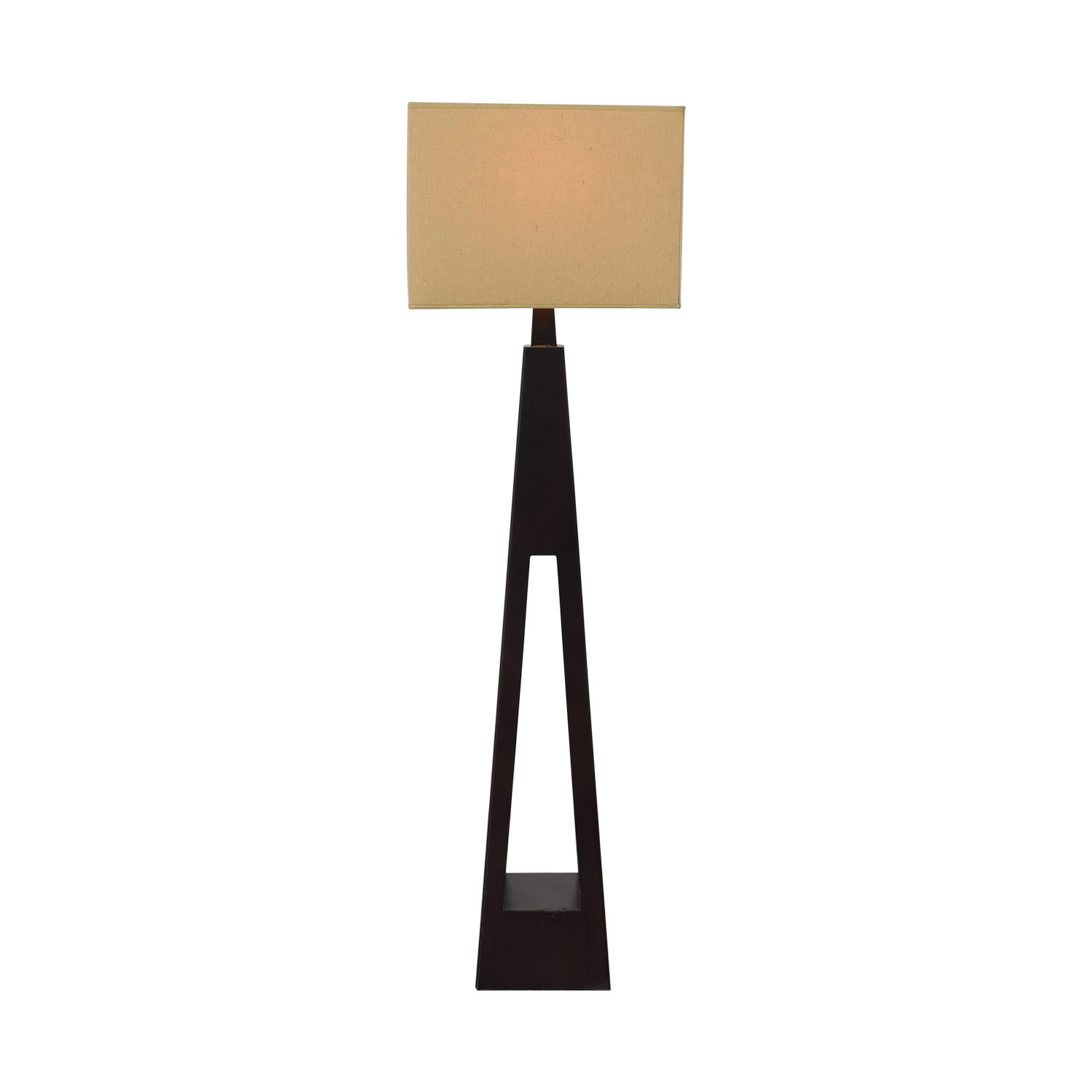 Tarogo Triangular Wood Base Floor Lamp / Decor