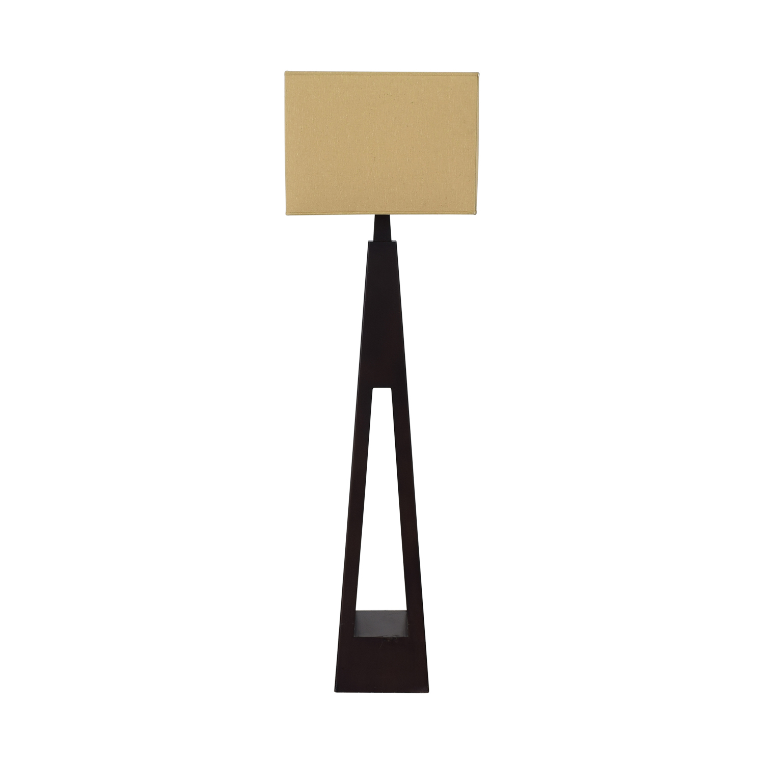 Tarogo Tarogo Triangular Wood Base Floor Lamp dimensions