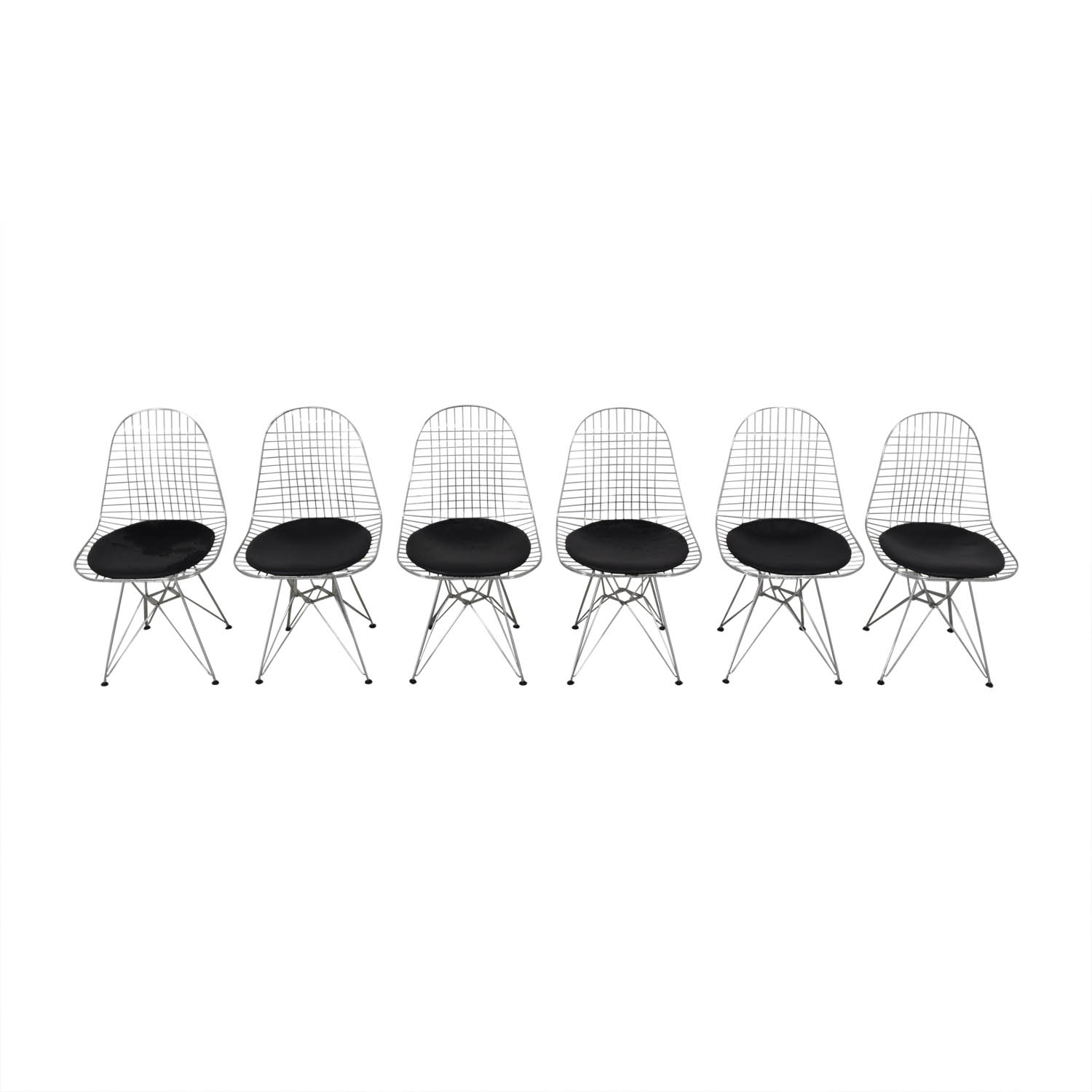 shop Herman Miller Eames Wire Chair with Seat Pad Herman Miller Dining Chairs