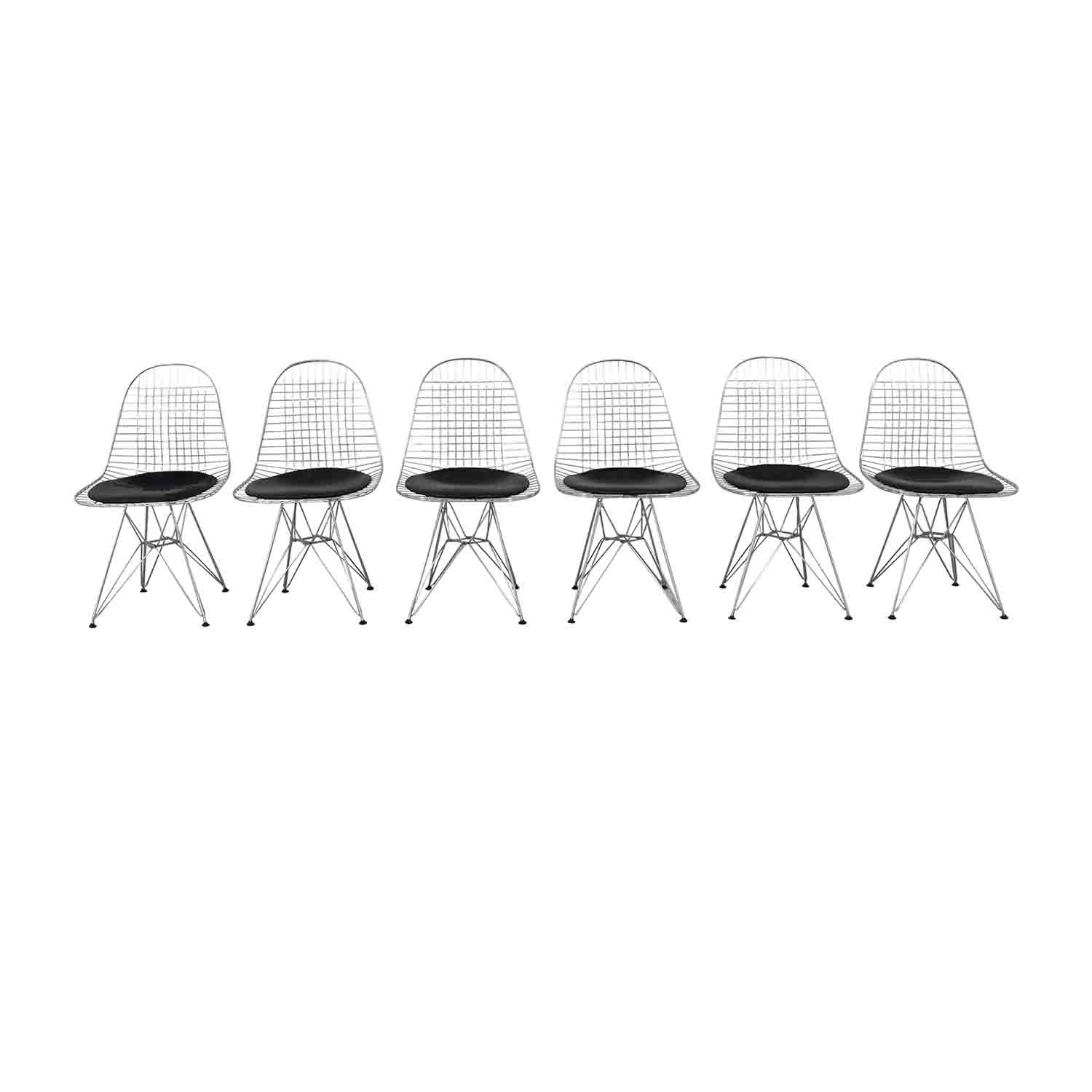 Herman Miller Herman Miller Eames Wire Chair with Seat Pad Chairs