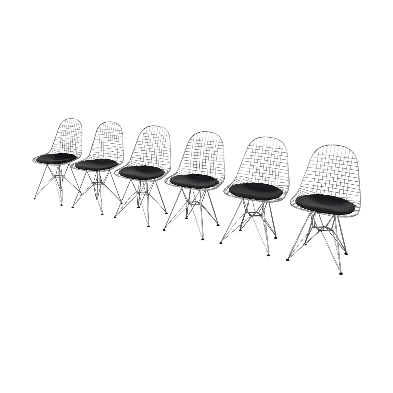 shop Herman Miller Eames Wire Chair with Seat Pad Herman Miller Chairs