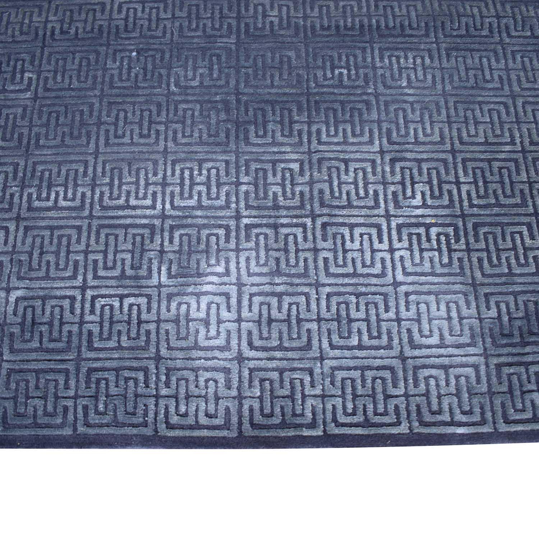 shop Nitzan Home Collection Hand knotted Silk and Wool Geometric Rug Nitzan Home