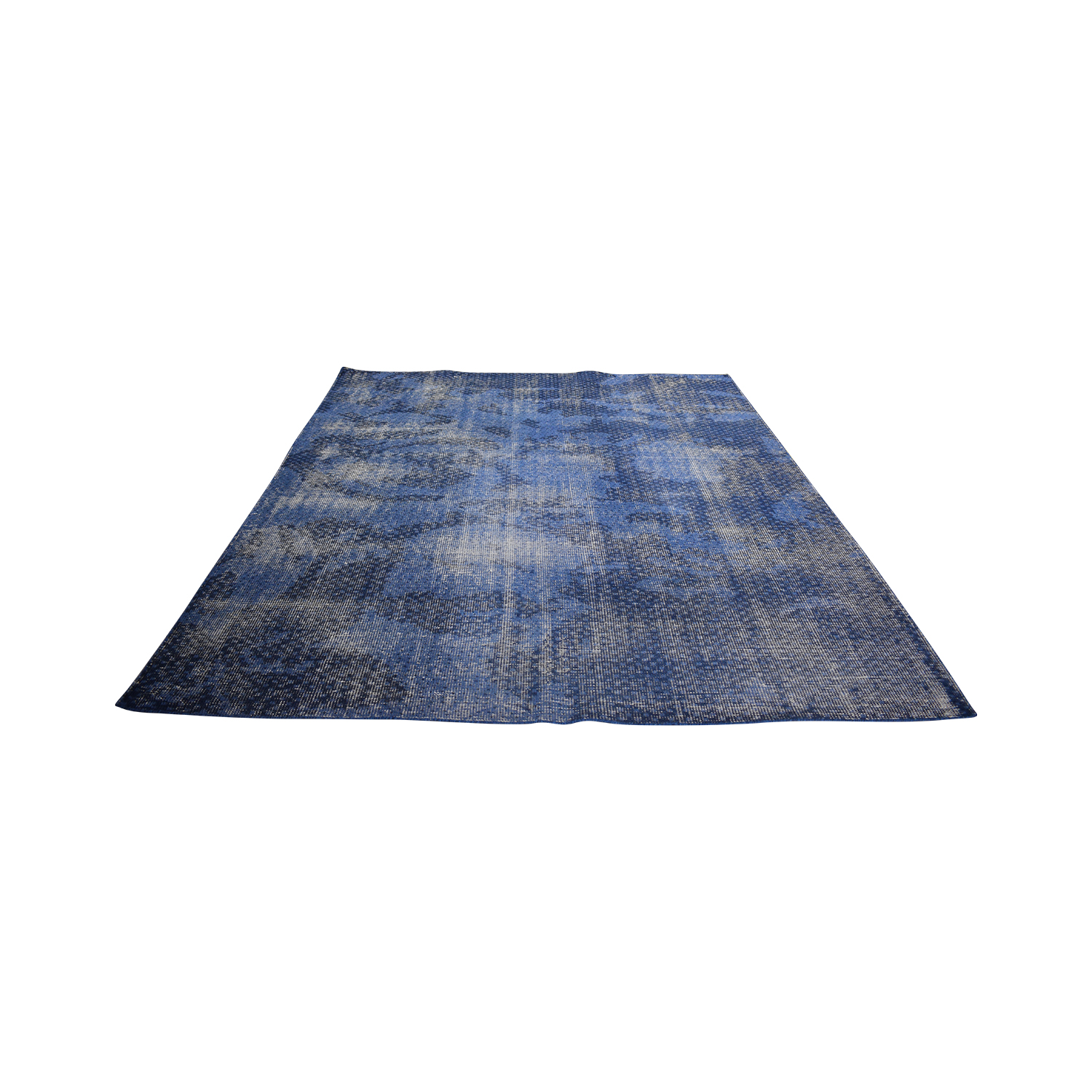 shop CB2 CB2 The Hill-Side Disintegrated Blue Floral Rug online