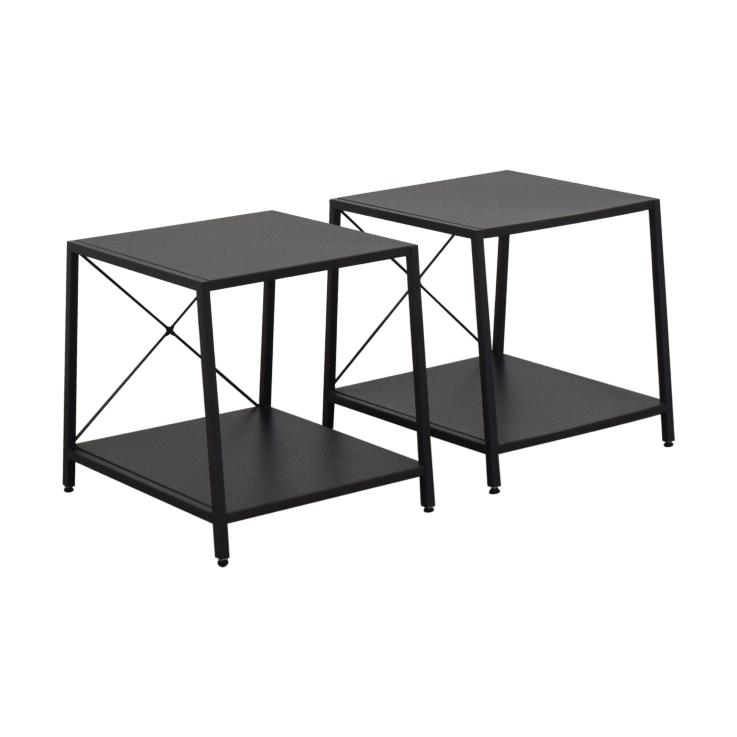 CB2 CB2 Harvey Gunmetal Nightstands second hand