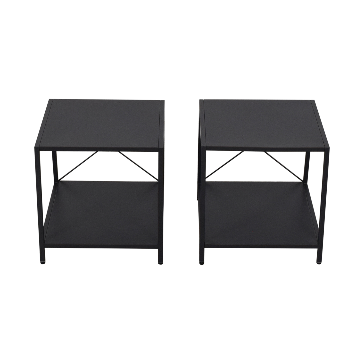 buy CB2 CB2 Harvey Gunmetal Nightstands online
