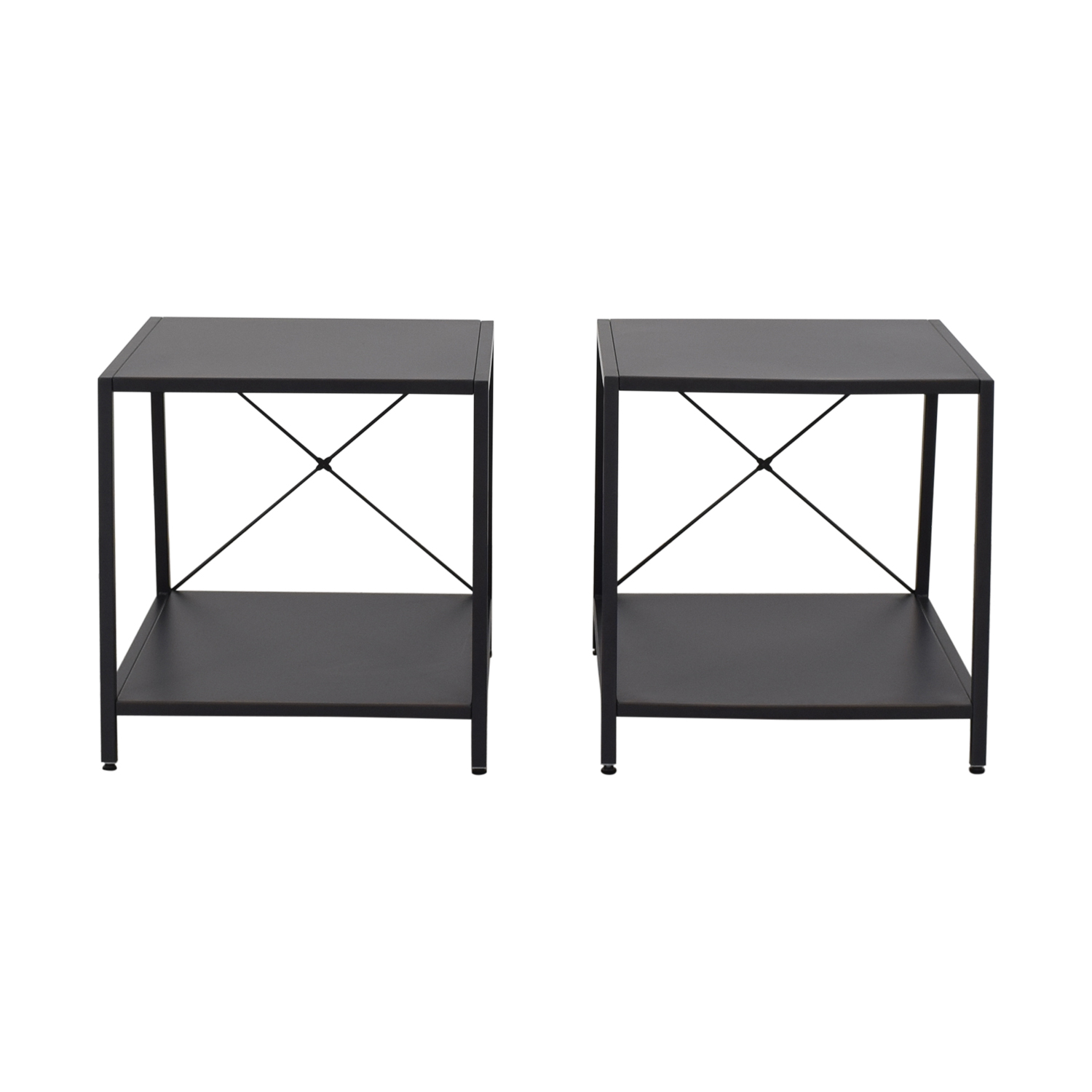 shop CB2 Harvey Gunmetal Nightstands CB2 End Tables