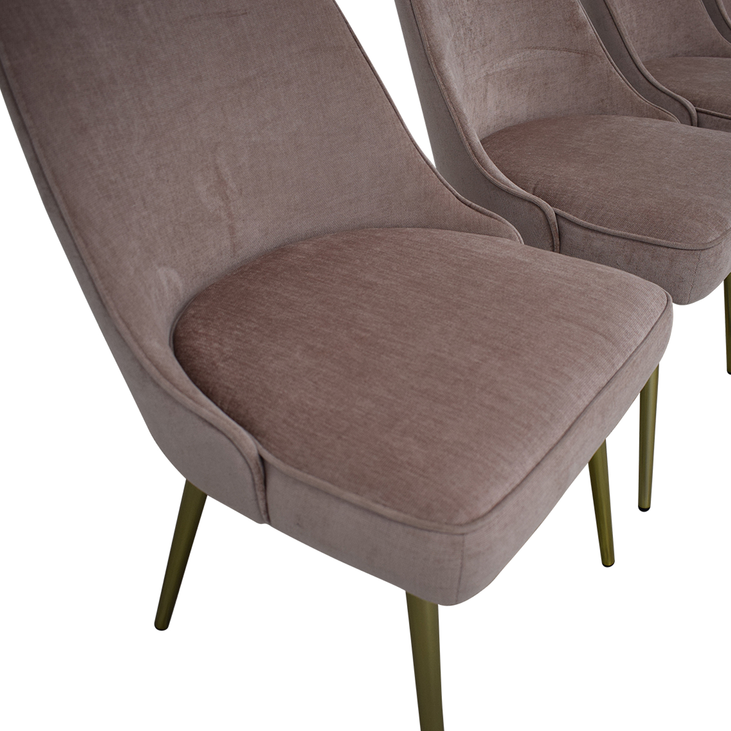 West Elm Mid Century Upholstered Dining Chairs West Elm