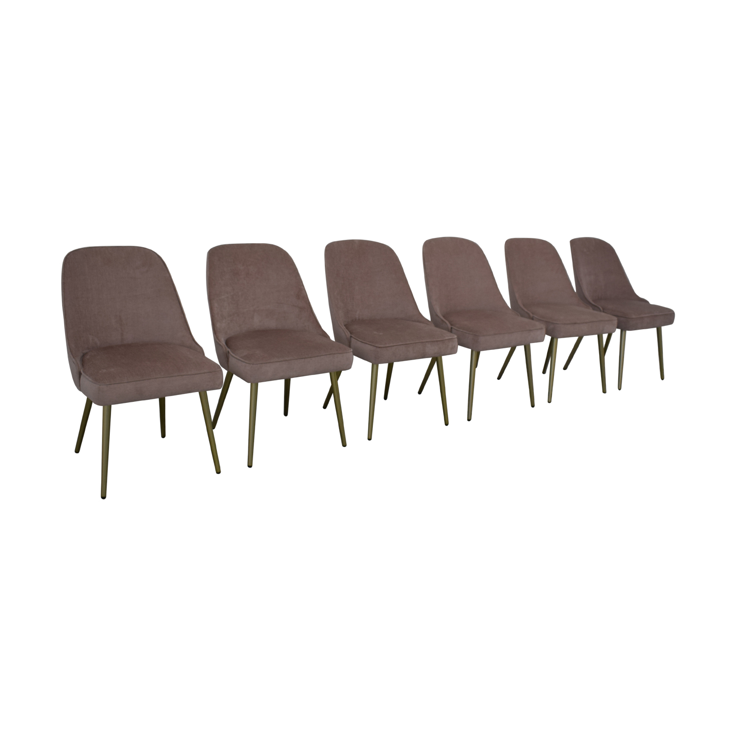 West Elm Mid Century Upholstered Dining Chairs / Chairs