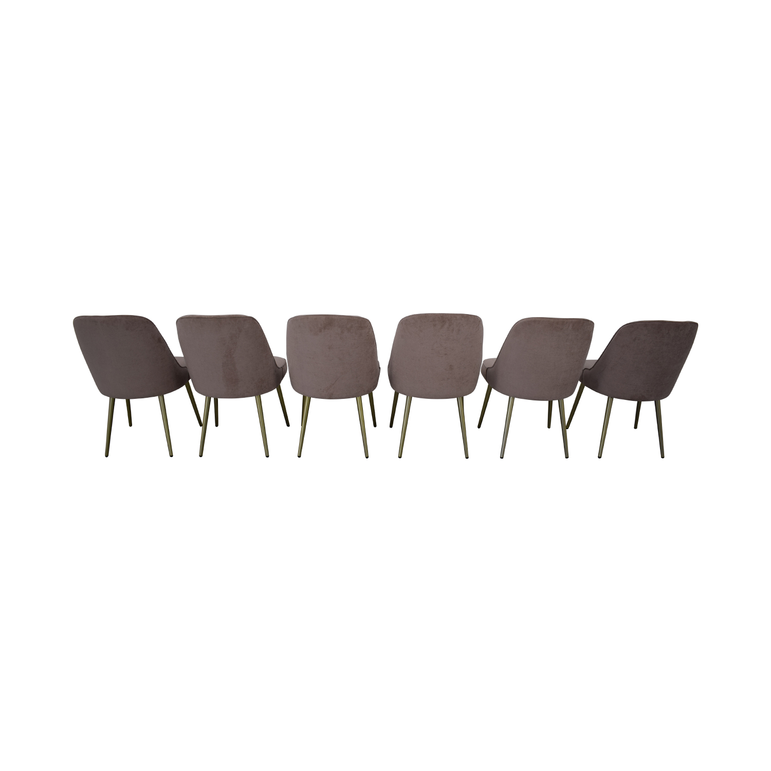 West Elm West Elm Mid Century Upholstered Dining Chairs second hand