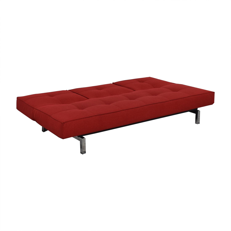 Room & Board Room & Board Encore Convertible Sofa red
