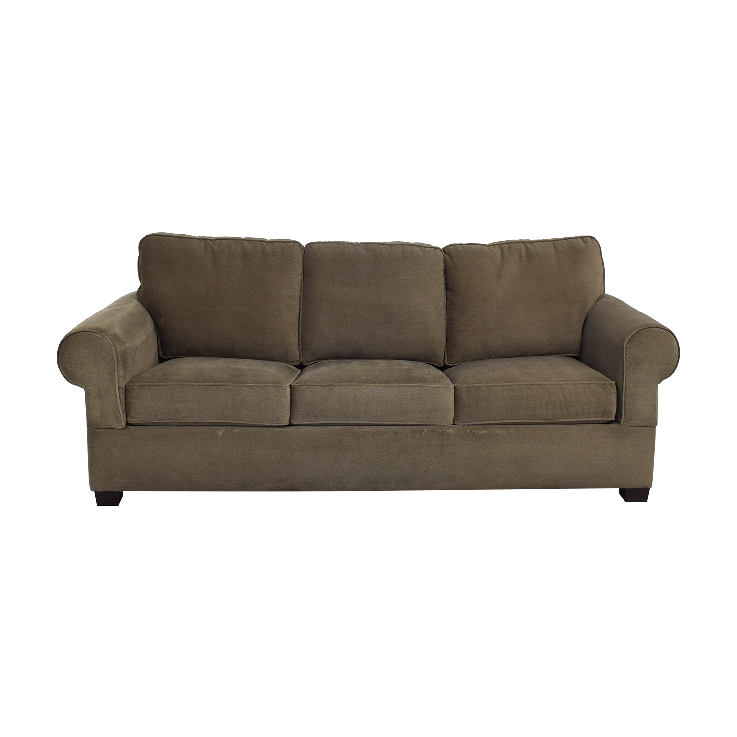 Three Cushion Queen Sofa Bed brown