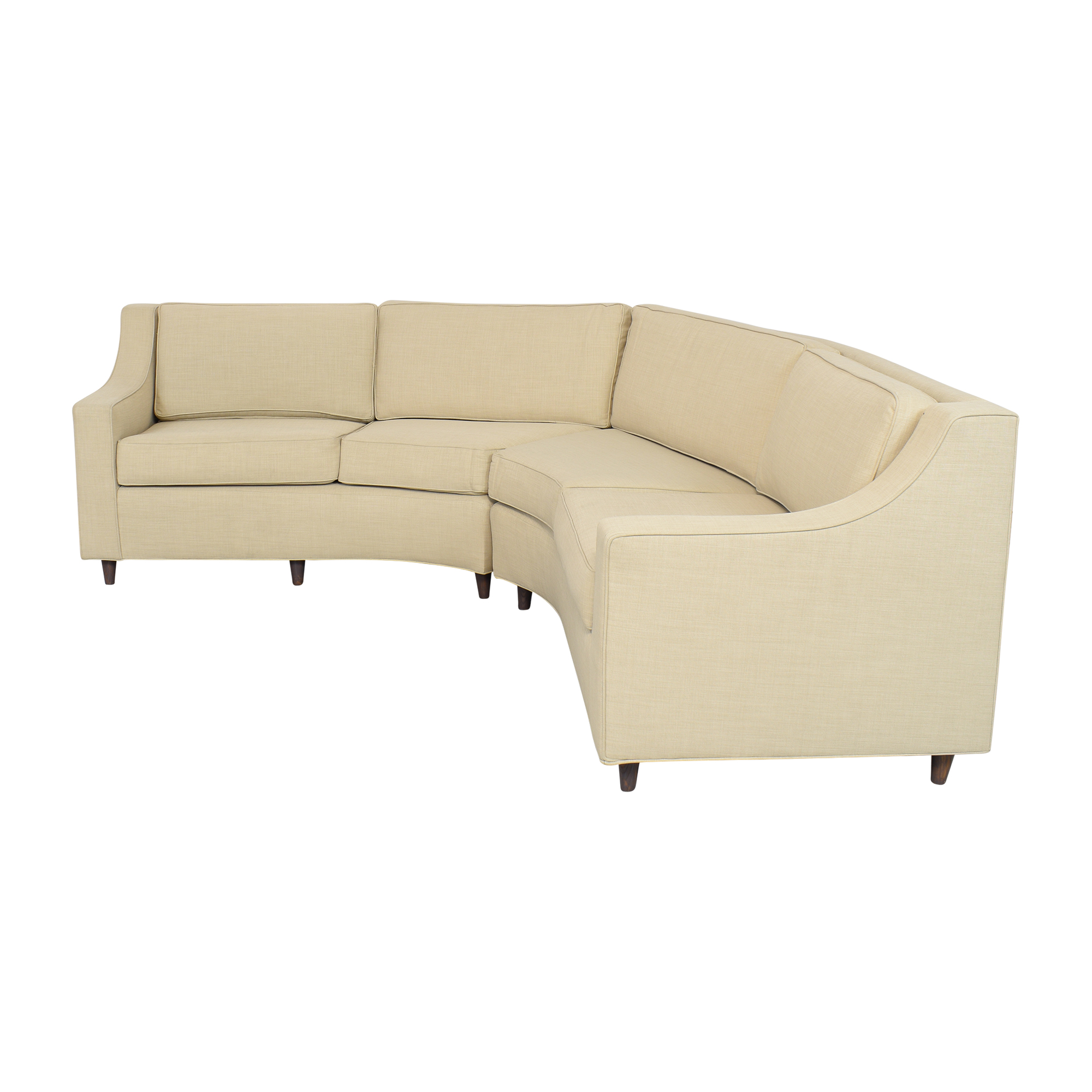 Stonebrook Interiors Mid Century Curved Sectional Sofa / Sofas