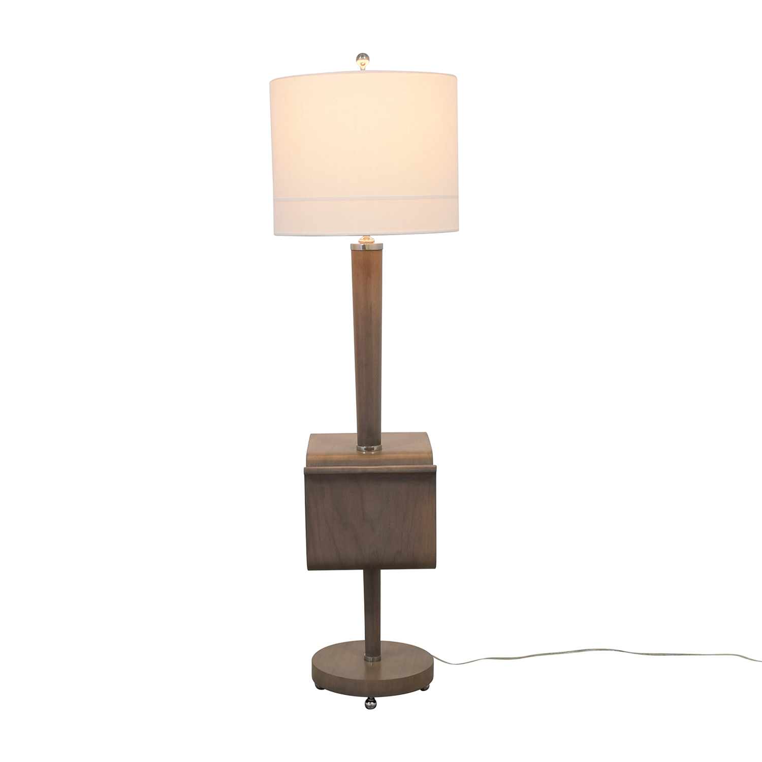 Stonebrook Interiors Floor Lamp with Magazine Holder / Lamps