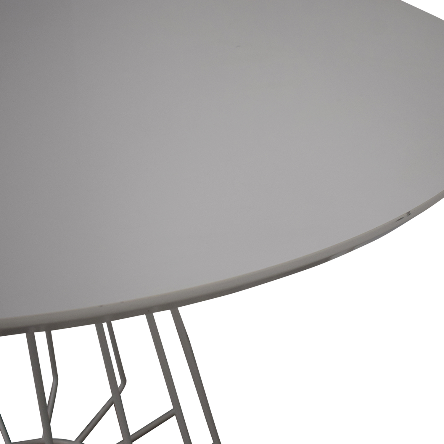 CB2 CB2 Compass Wire Base Dining Table Chairs