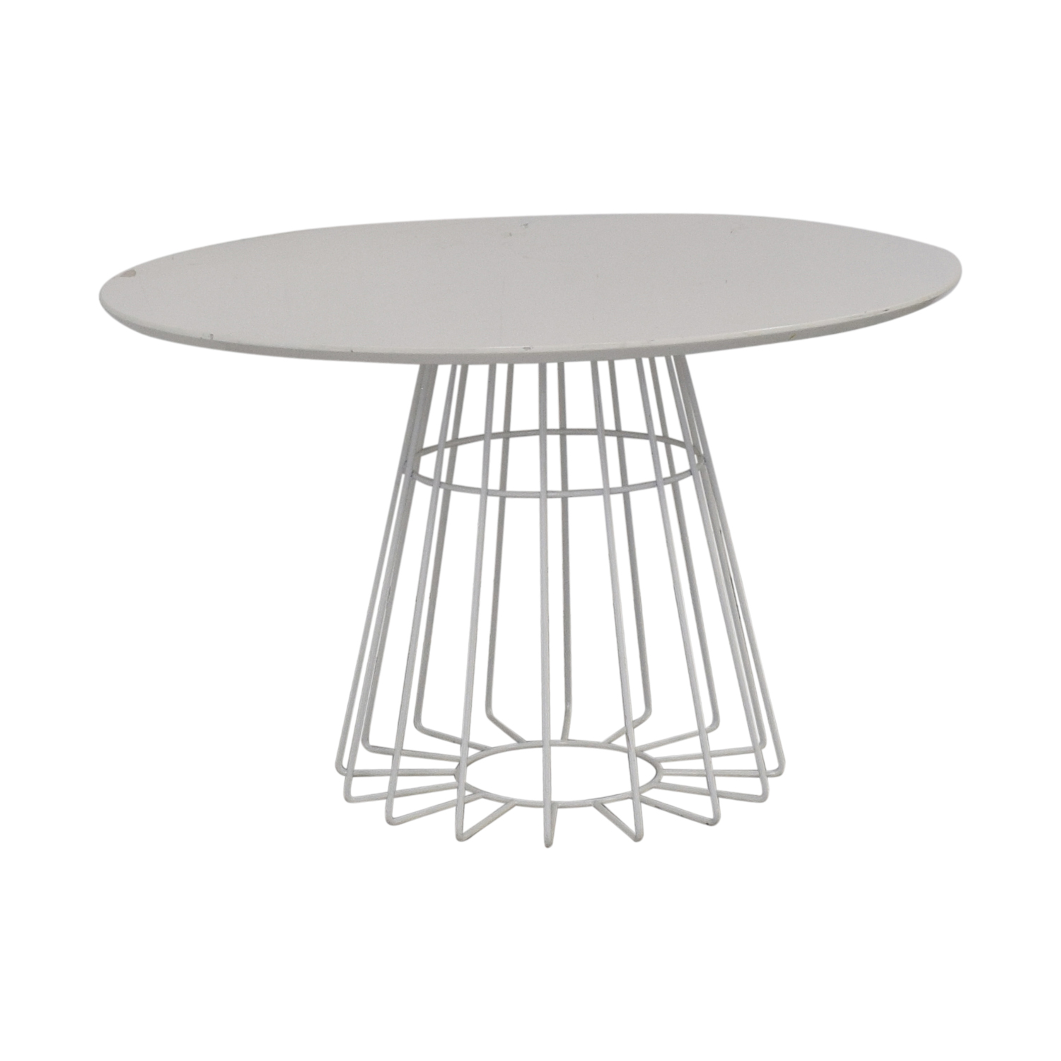 CB2 Compass Wire Base Dining Table / Dining Chairs