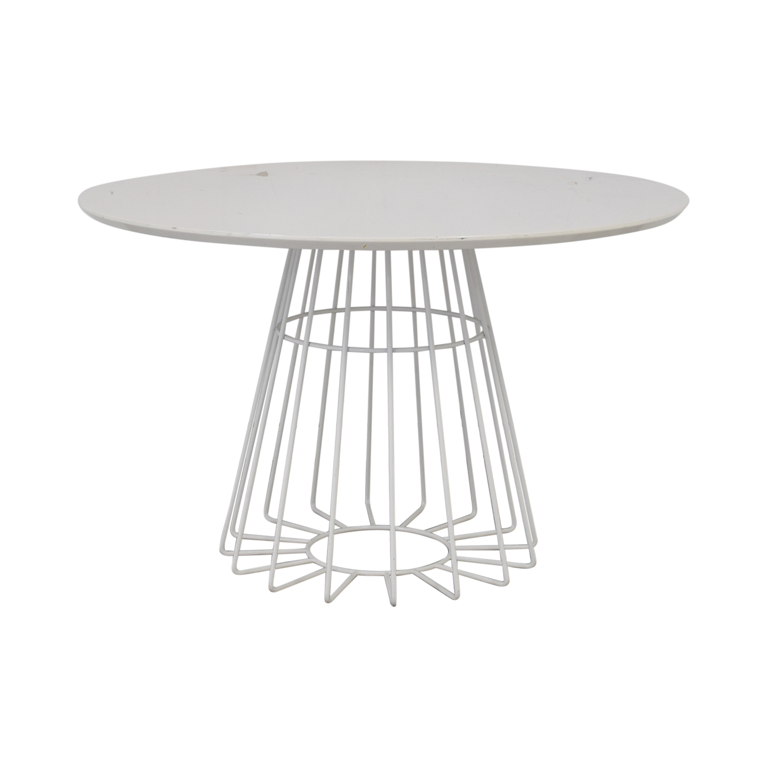 buy CB2 Compass Wire Base Dining Table CB2 Chairs