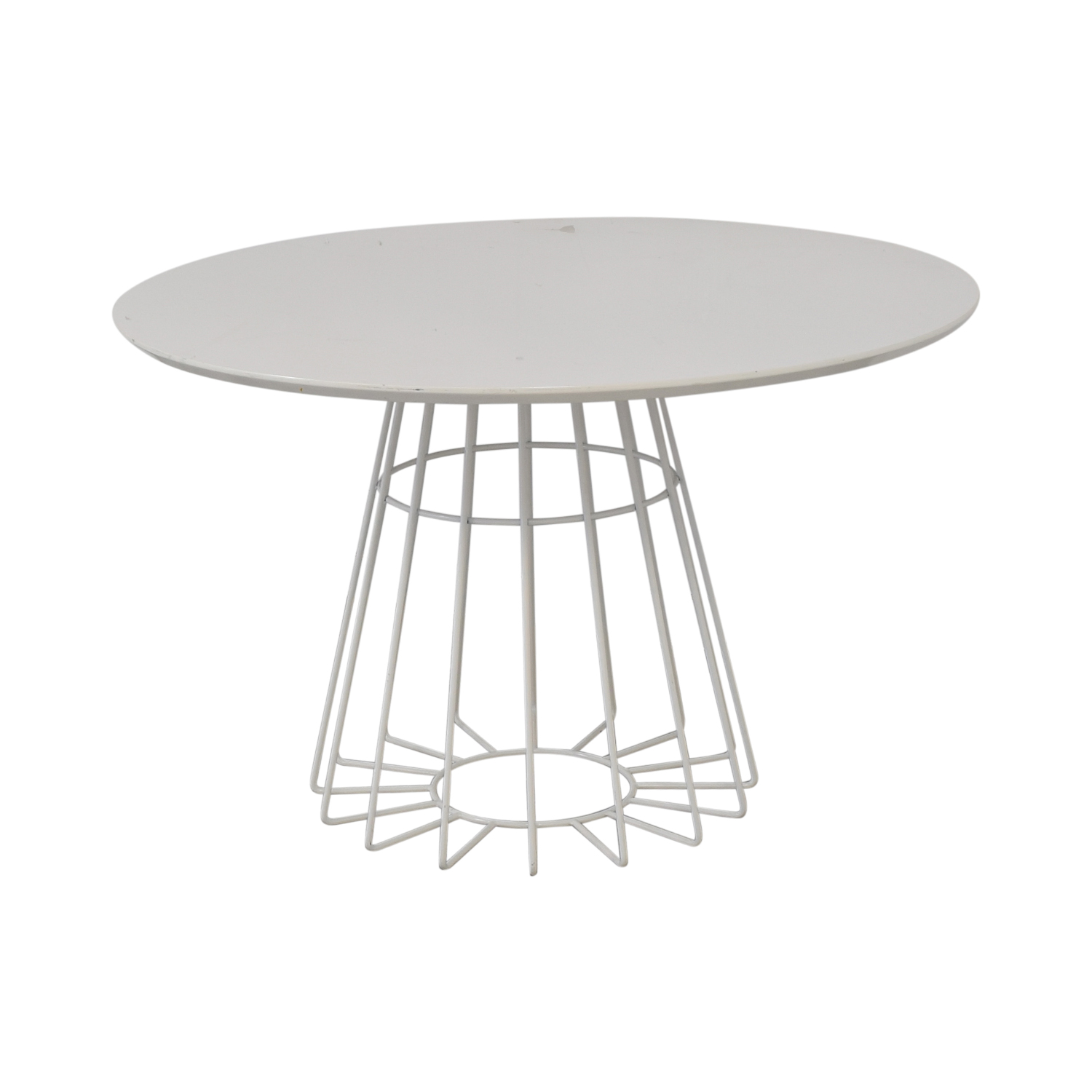 CB2 CB2 Compass Wire Base Dining Table dimensions